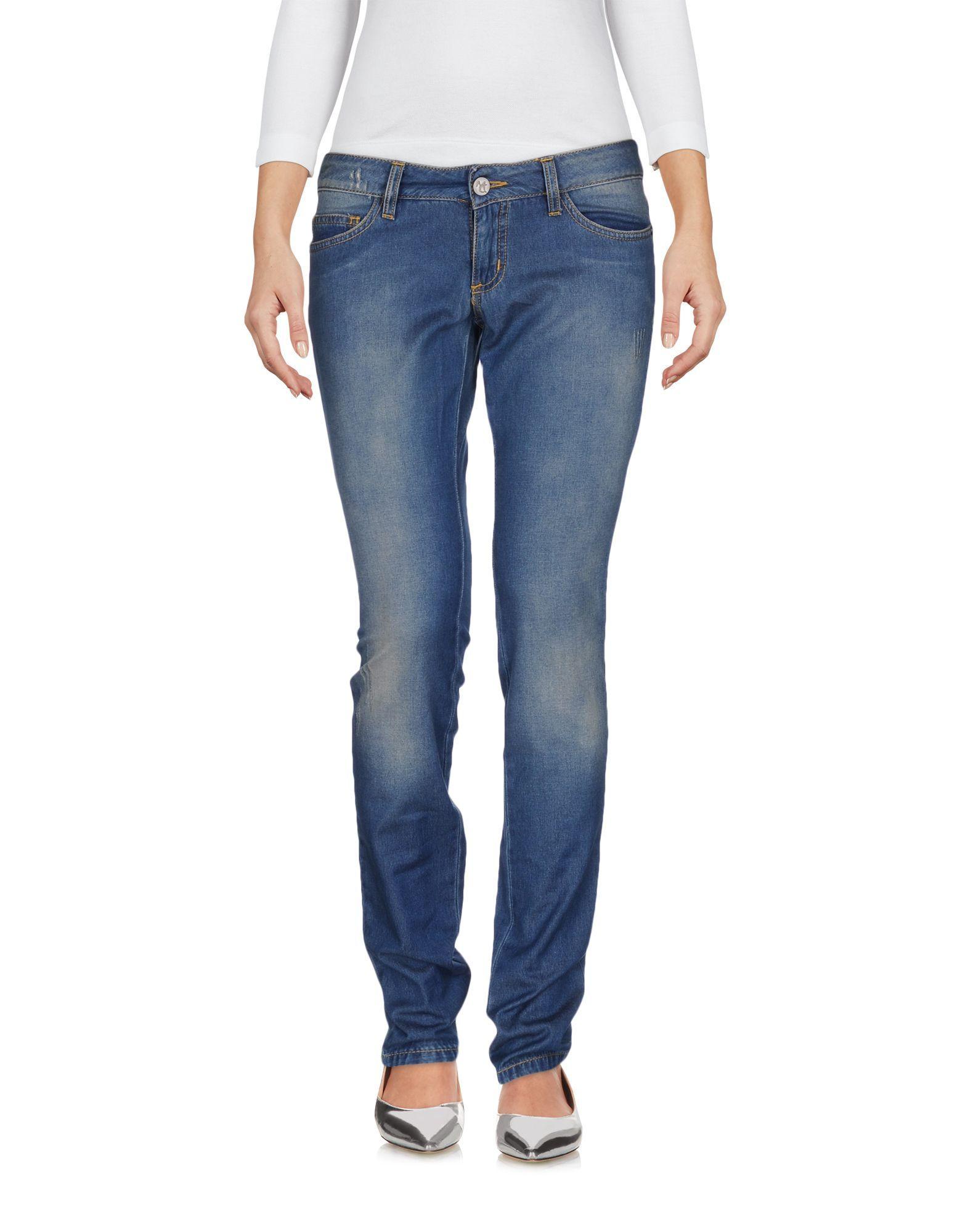 Manila Grace Blue Cotton Jeans