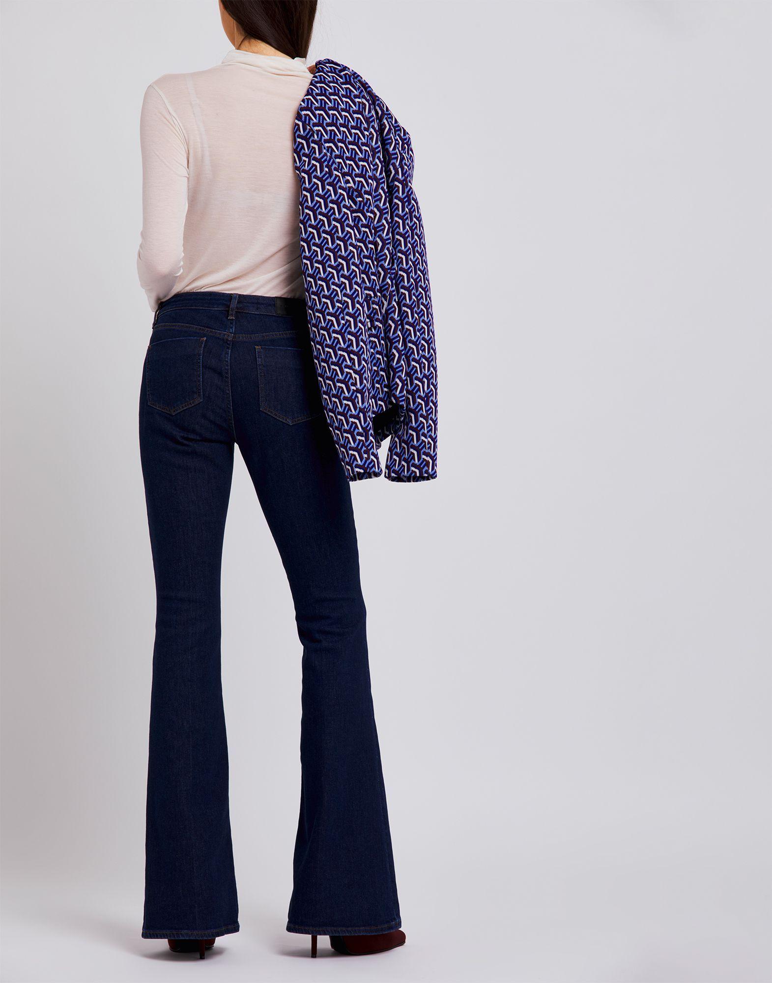 Victoria, Victoria Beckham Blue Cotton Flared Jeans