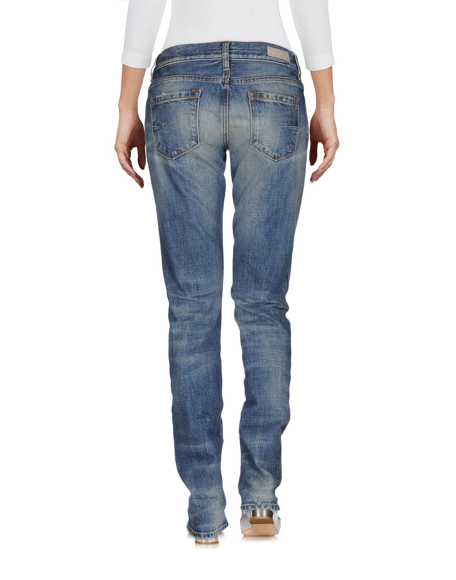 Mauro Grifoni Blue Cotton Low Waisted Jeans