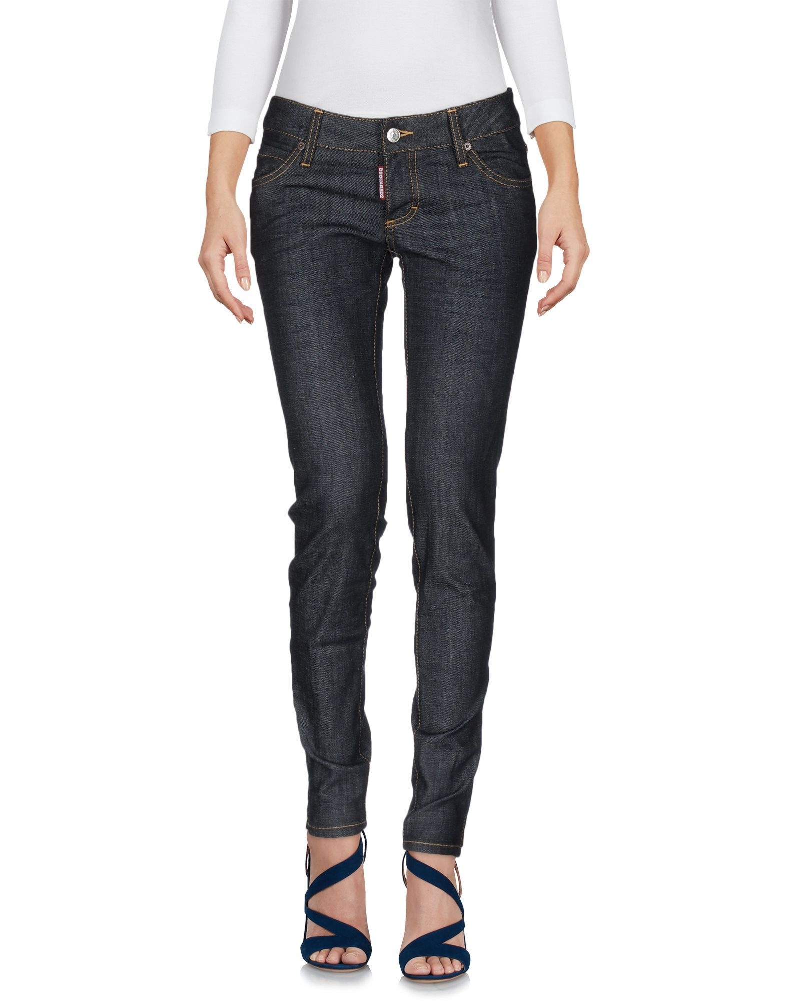 Dsquared2 Blue Cotton Skinny Jeans