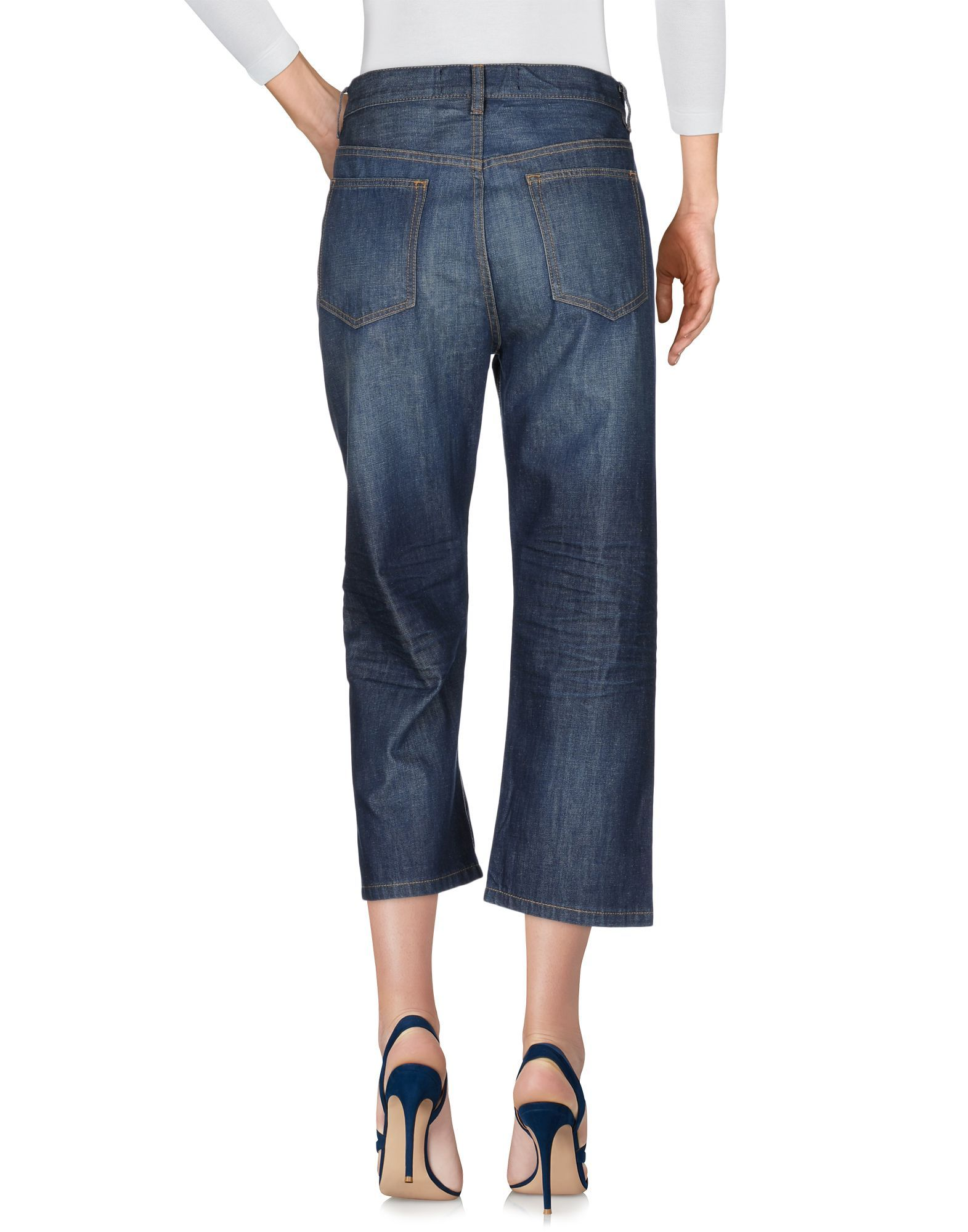 Marc By Marc Jacobs Blue Cotton Cropped Jeans
