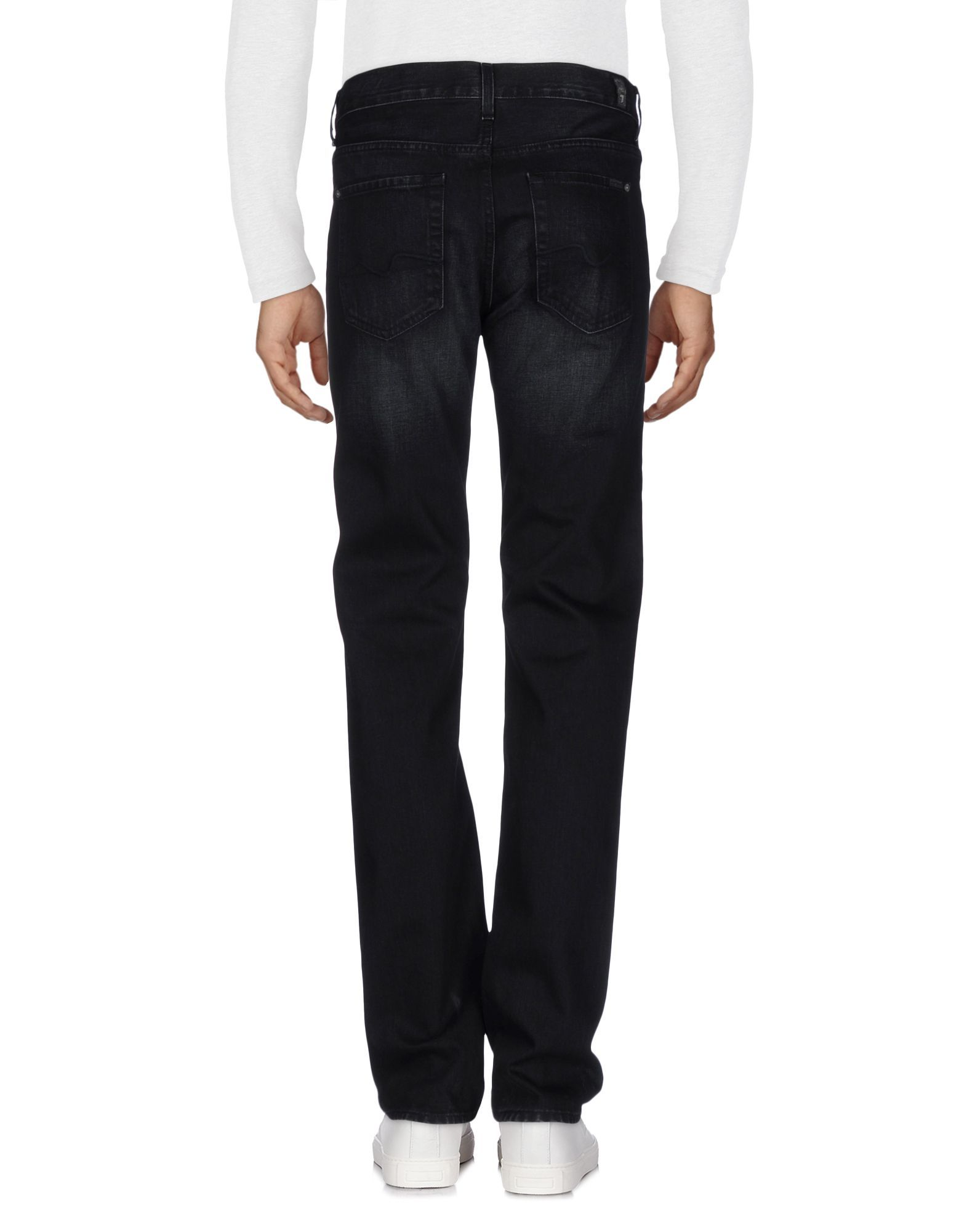 7 For All Mankind Black Cotton Jeans