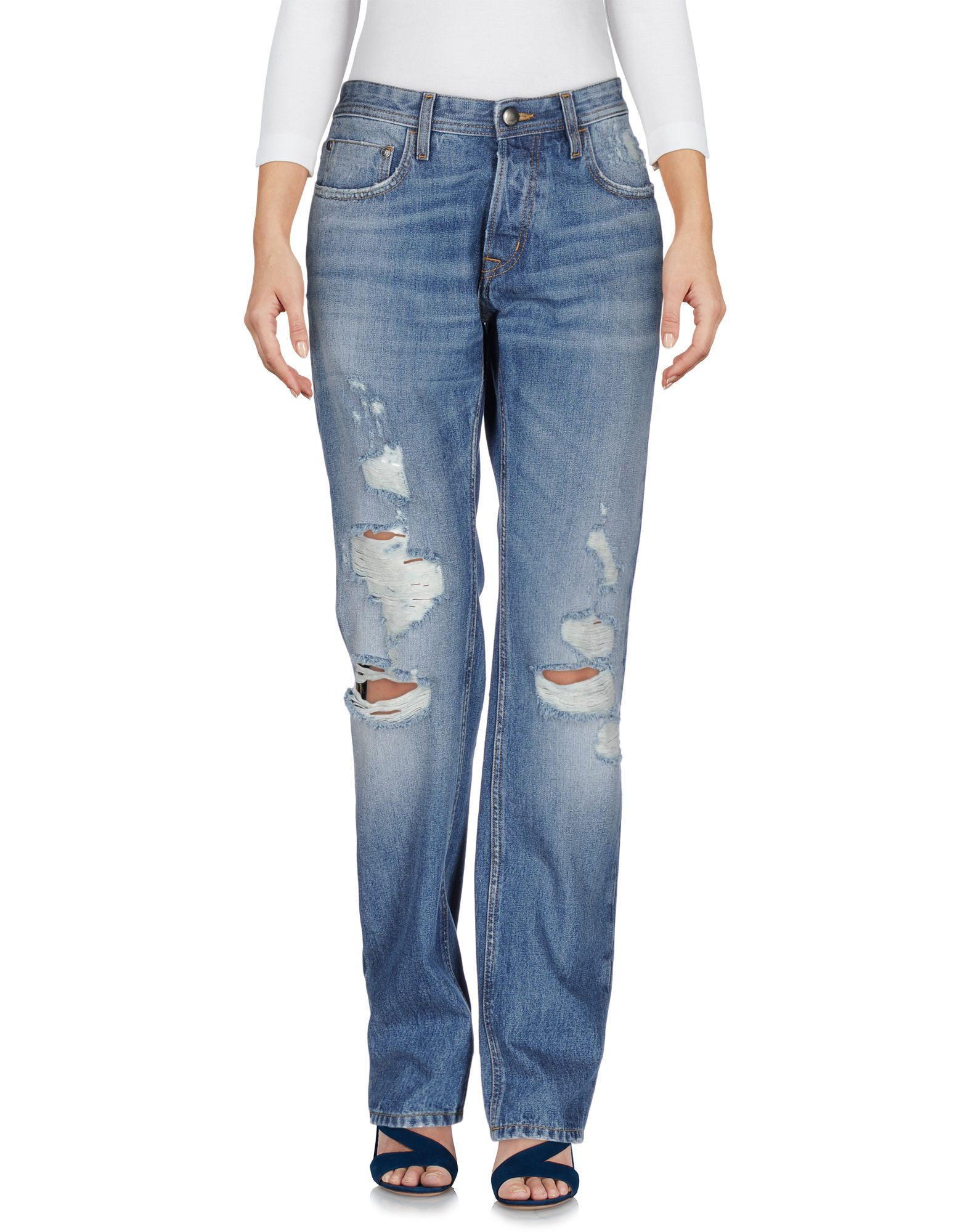Just Cavalli Blue Cotton Jeans