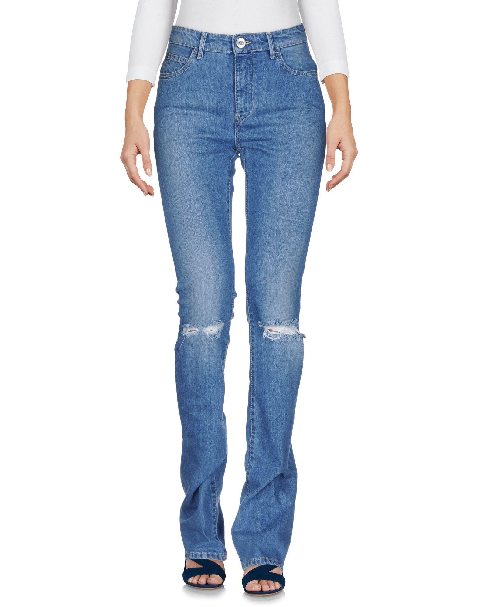 Haikure Blue Organic Cotton Bootcut Jeans