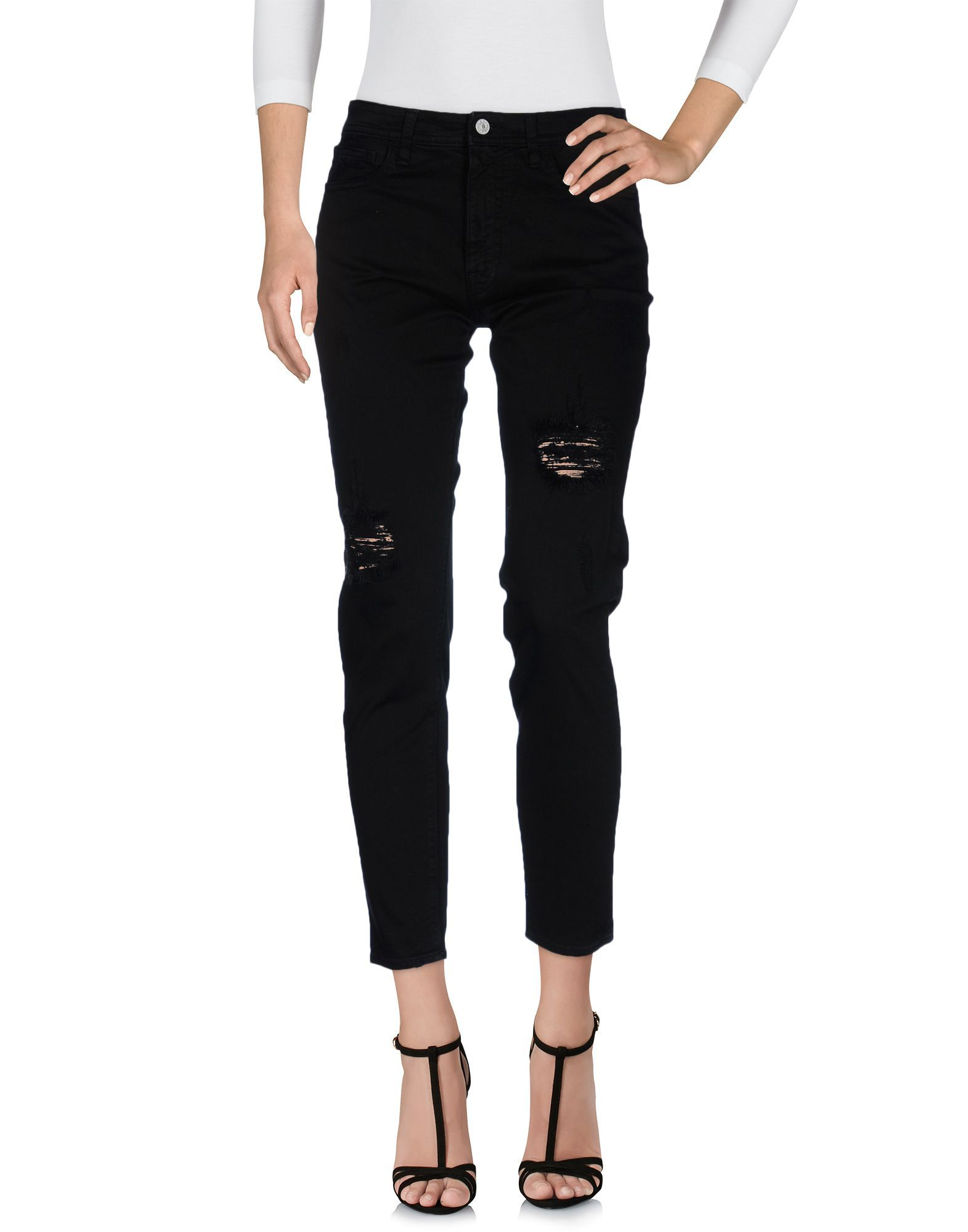 Cycle Black Cotton Jeans