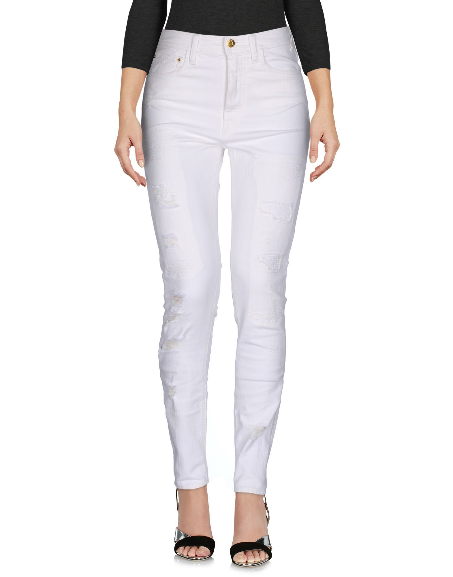 Cycle White Cotton Skinny Jeans