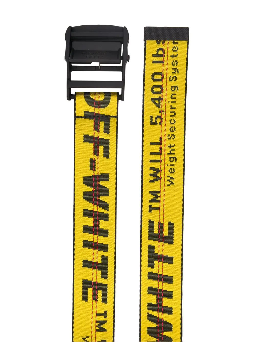OFF-WHITE WOMEN'S OWRB009S20FAB0011810 YELLOW LEATHER BELT