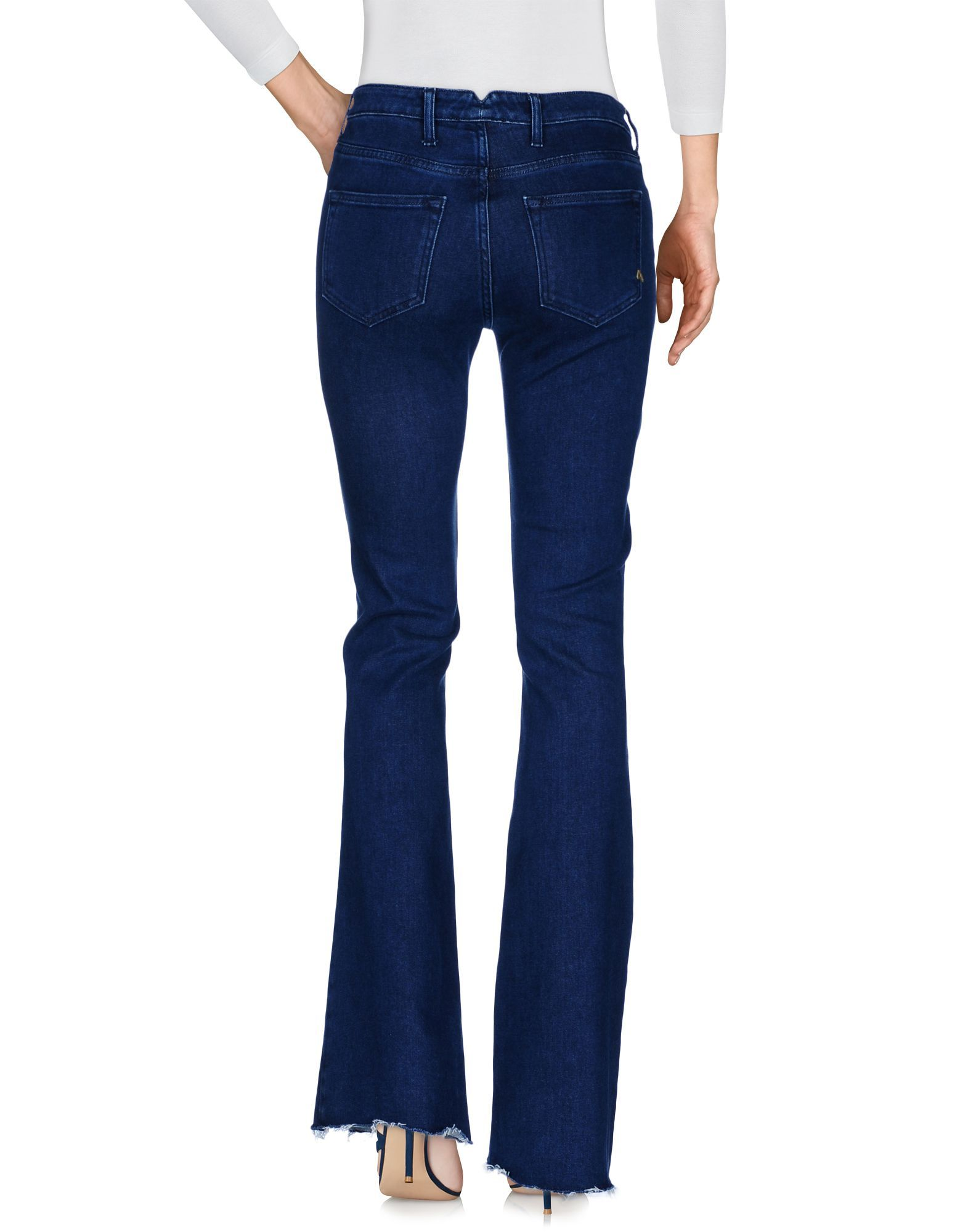 Cycle Blue Cotton Flare Jeans