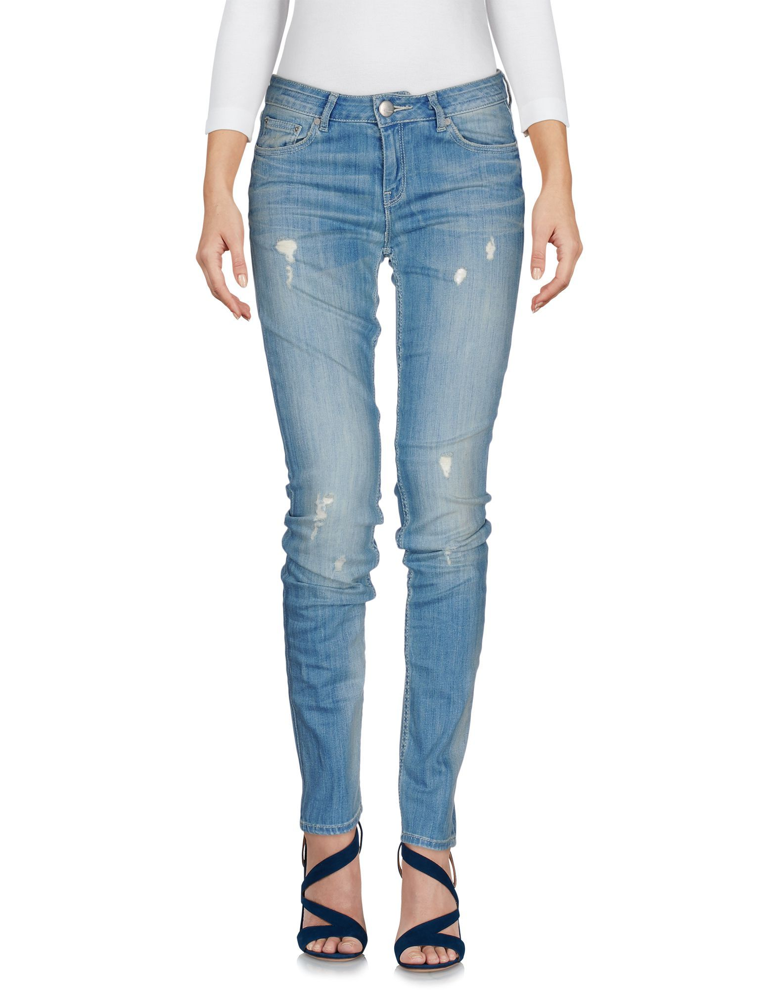 Silvian Heach Blue Cotton Skinny Jeans