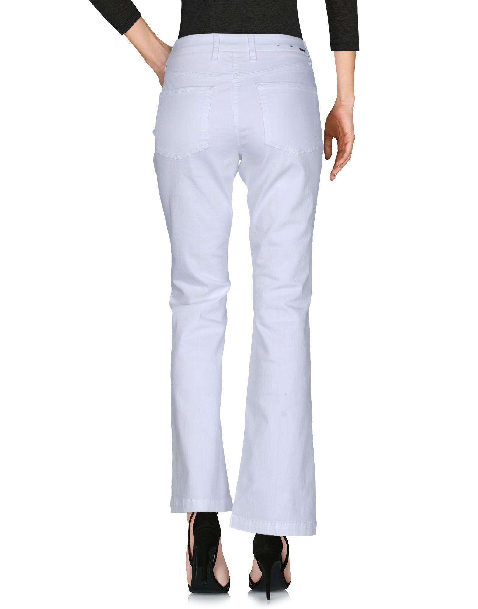 DENIM Cambio White Woman Cotton