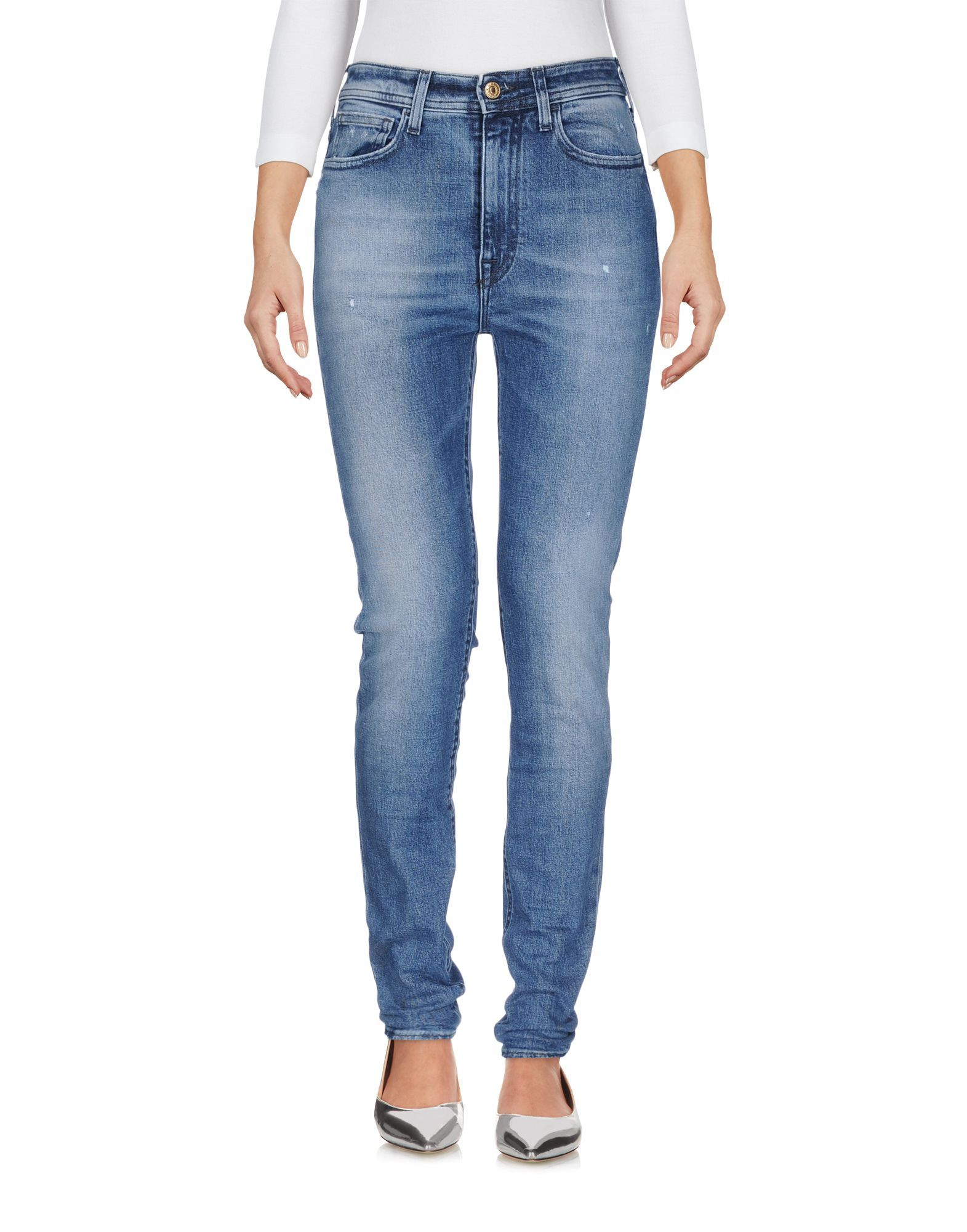 Cycle Blue Cotton Straight Leg Jeans