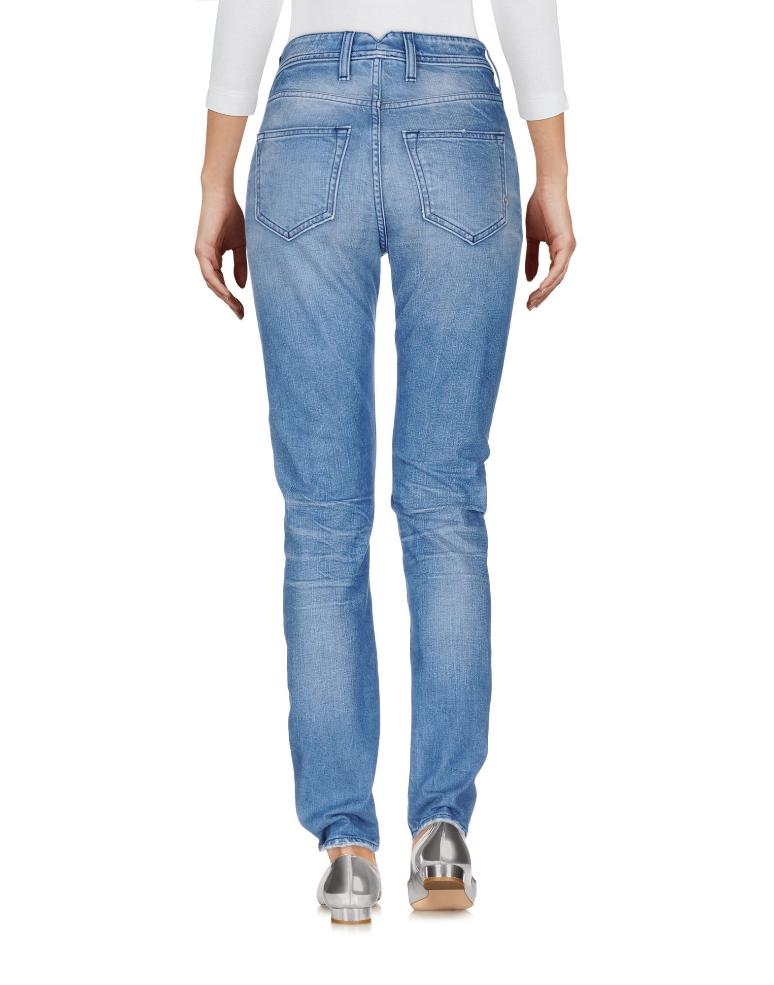 Cycle Blue Cotton Light Wash Skinny Jeans