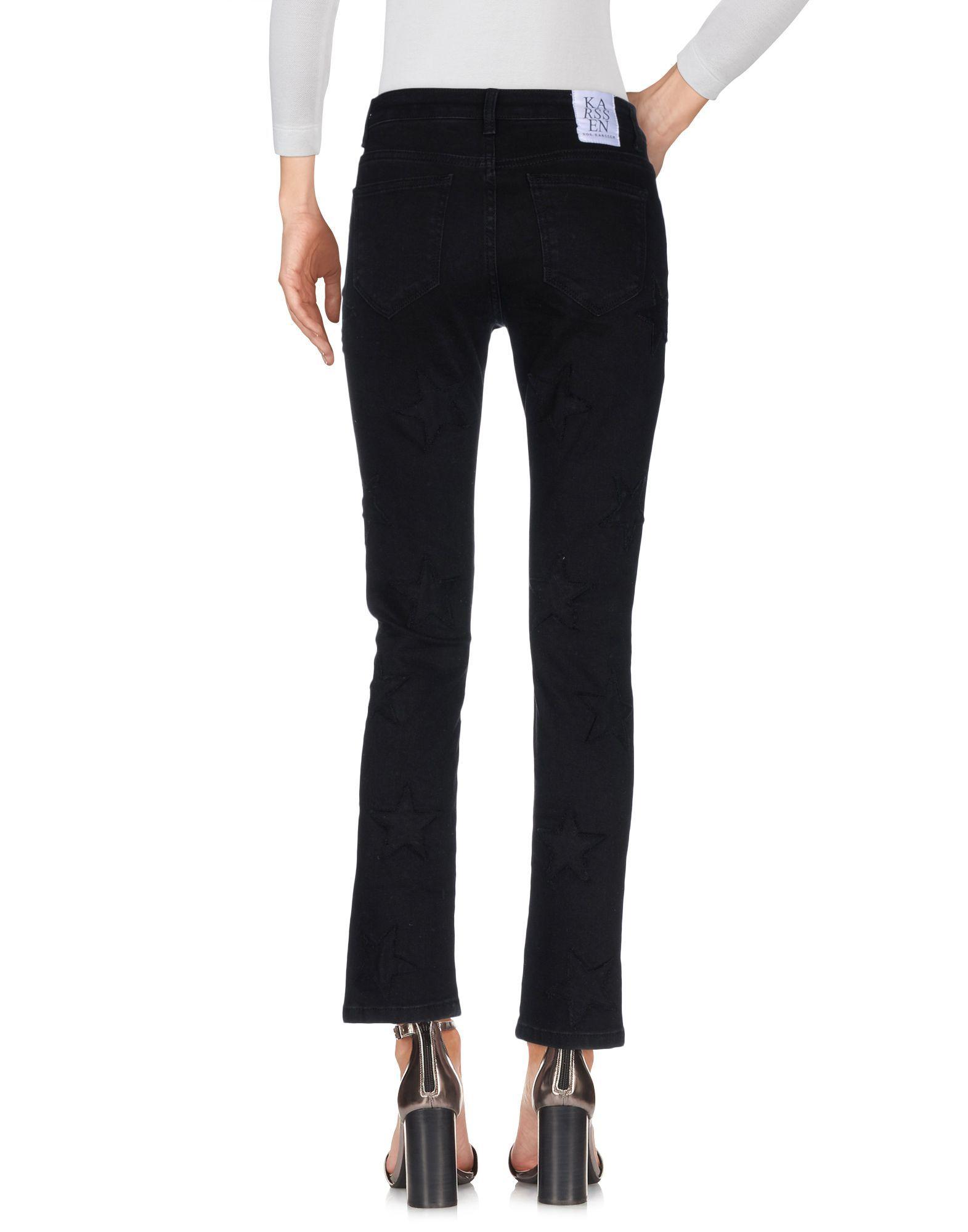 Zoe Karssen Black Cotton Straight Leg Jeans