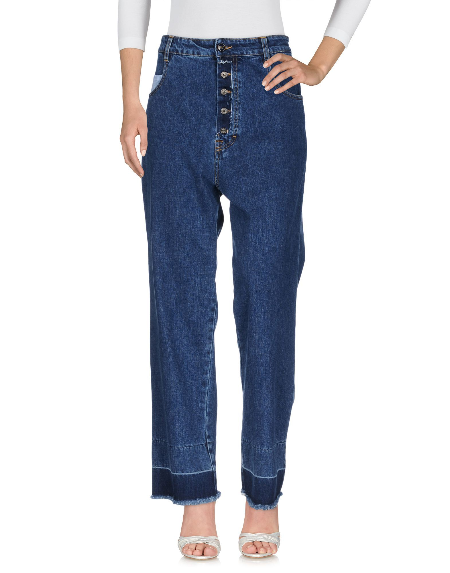 DENIM Semicouture Blue Woman Cotton