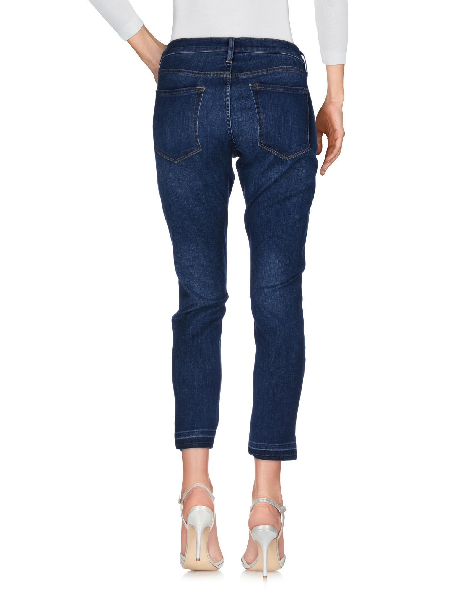 Frame Blue Cotton Cropped Jeans