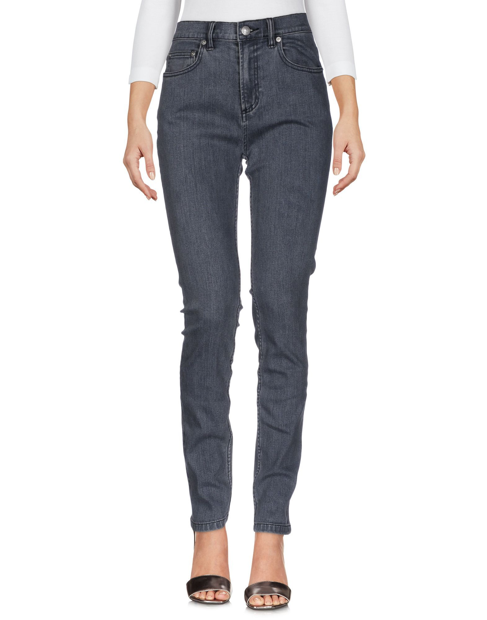 Marc By Marc Jacobs Grey Cotton Skinny Jeans