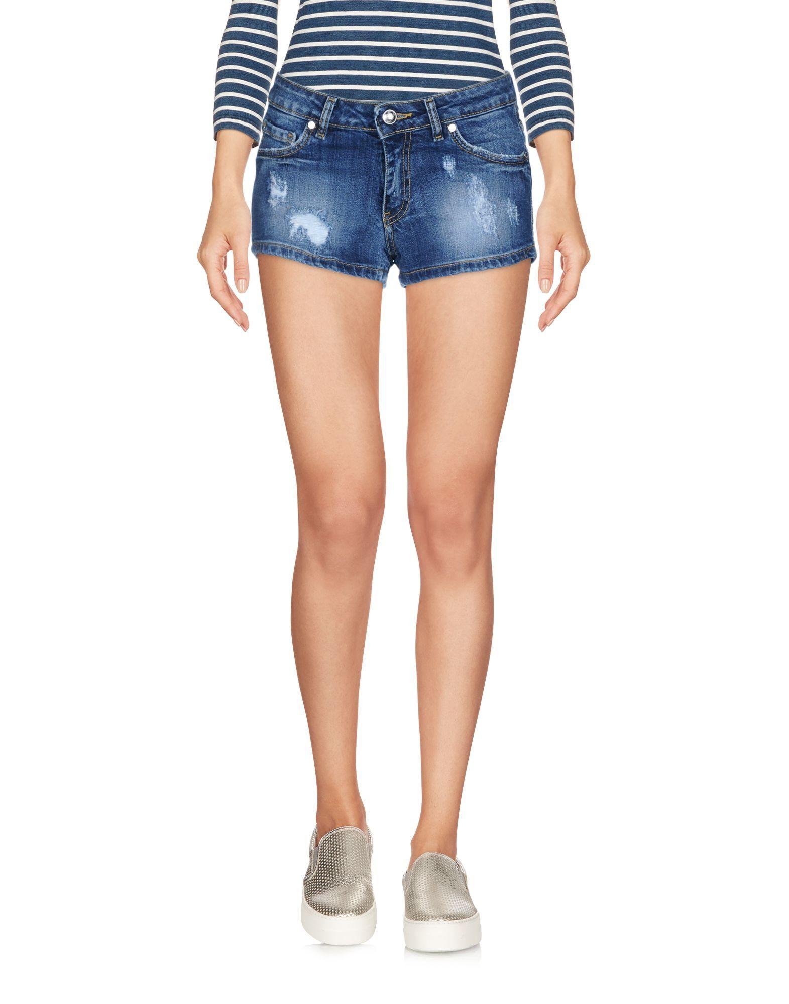Frankie Morello Blue Denim Shorts