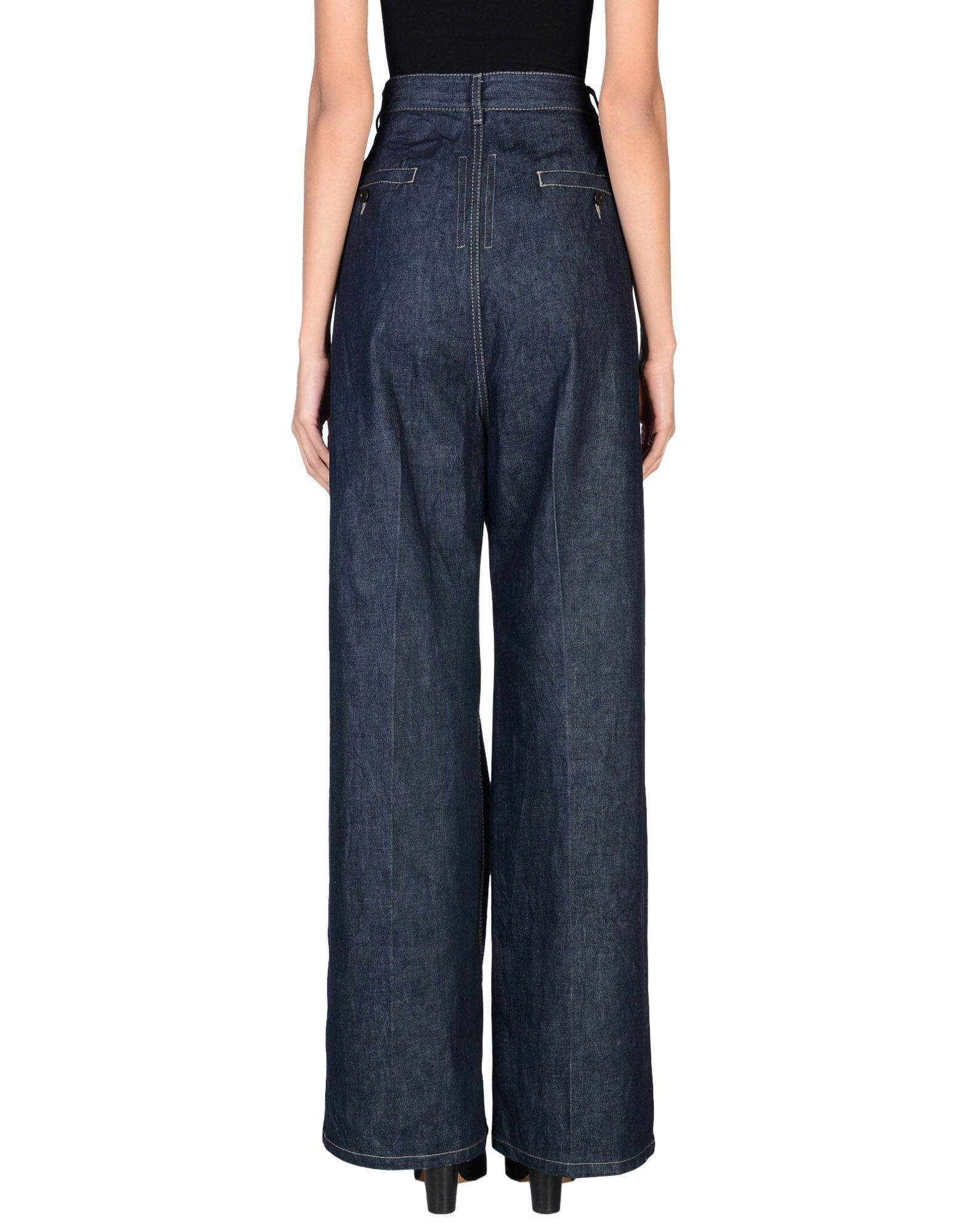 Drkshdw By Rick Owens Blue Cotton Jeans