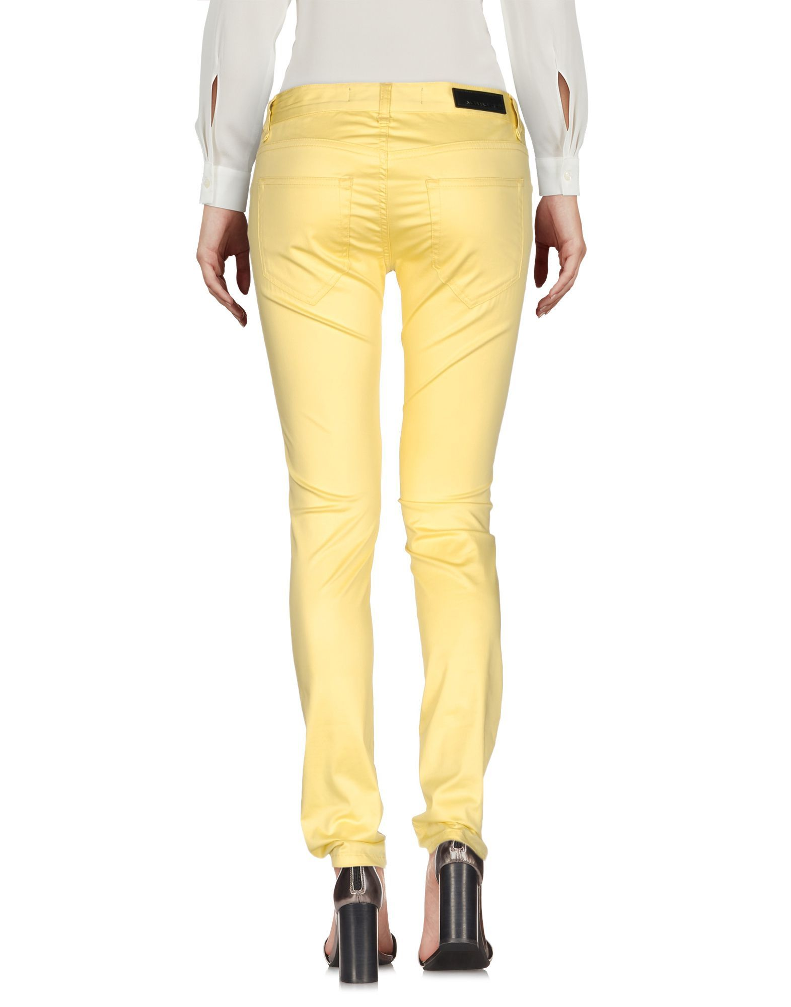 TROUSERS Messagerie Yellow Woman Cotton