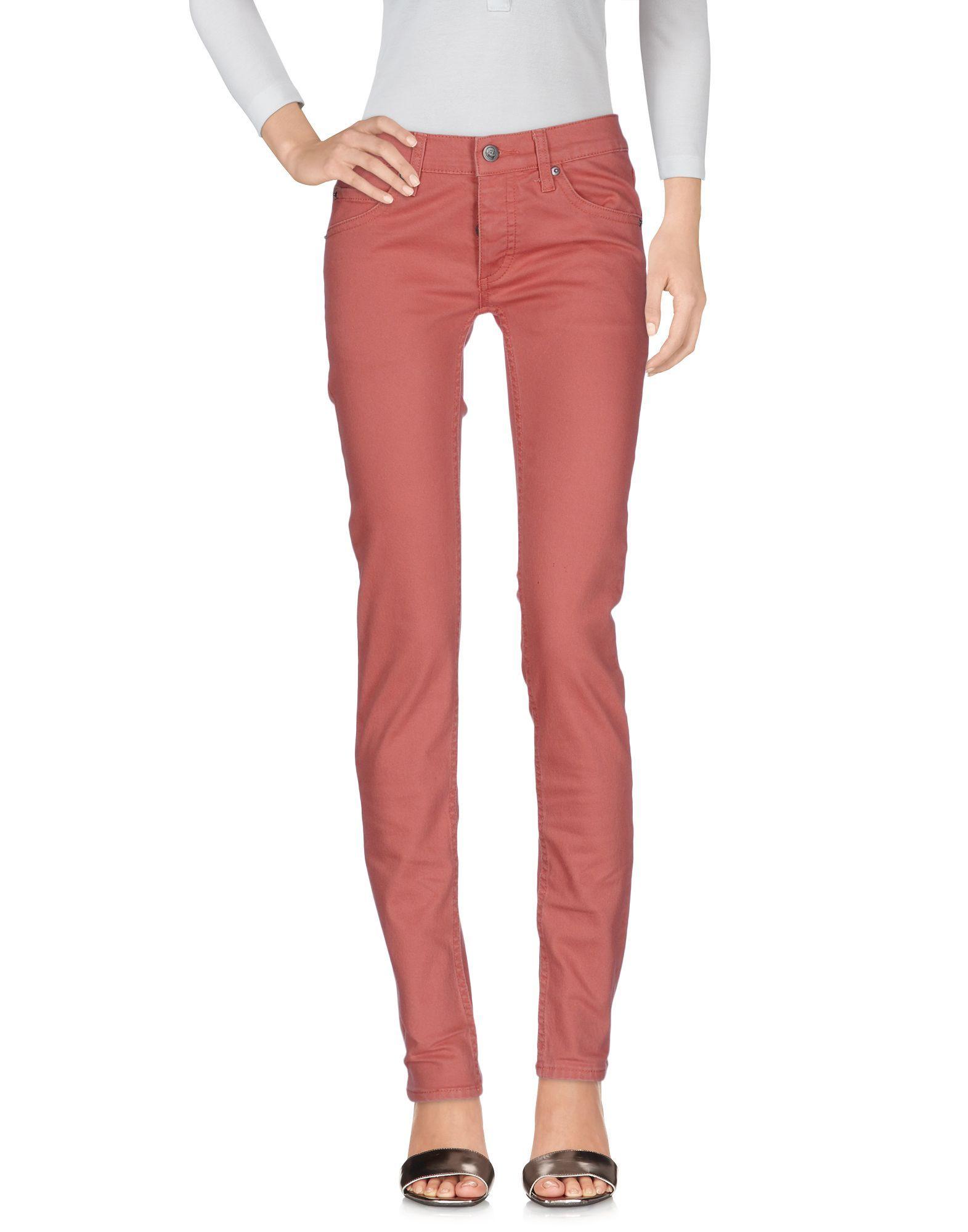 Cheap Monday Brick Red Cotton Jeans