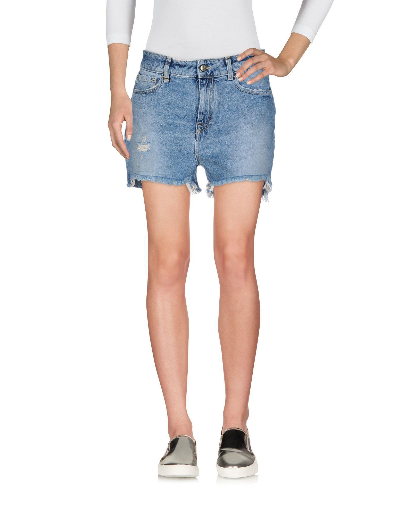 Cycle Blue Denim Shorts