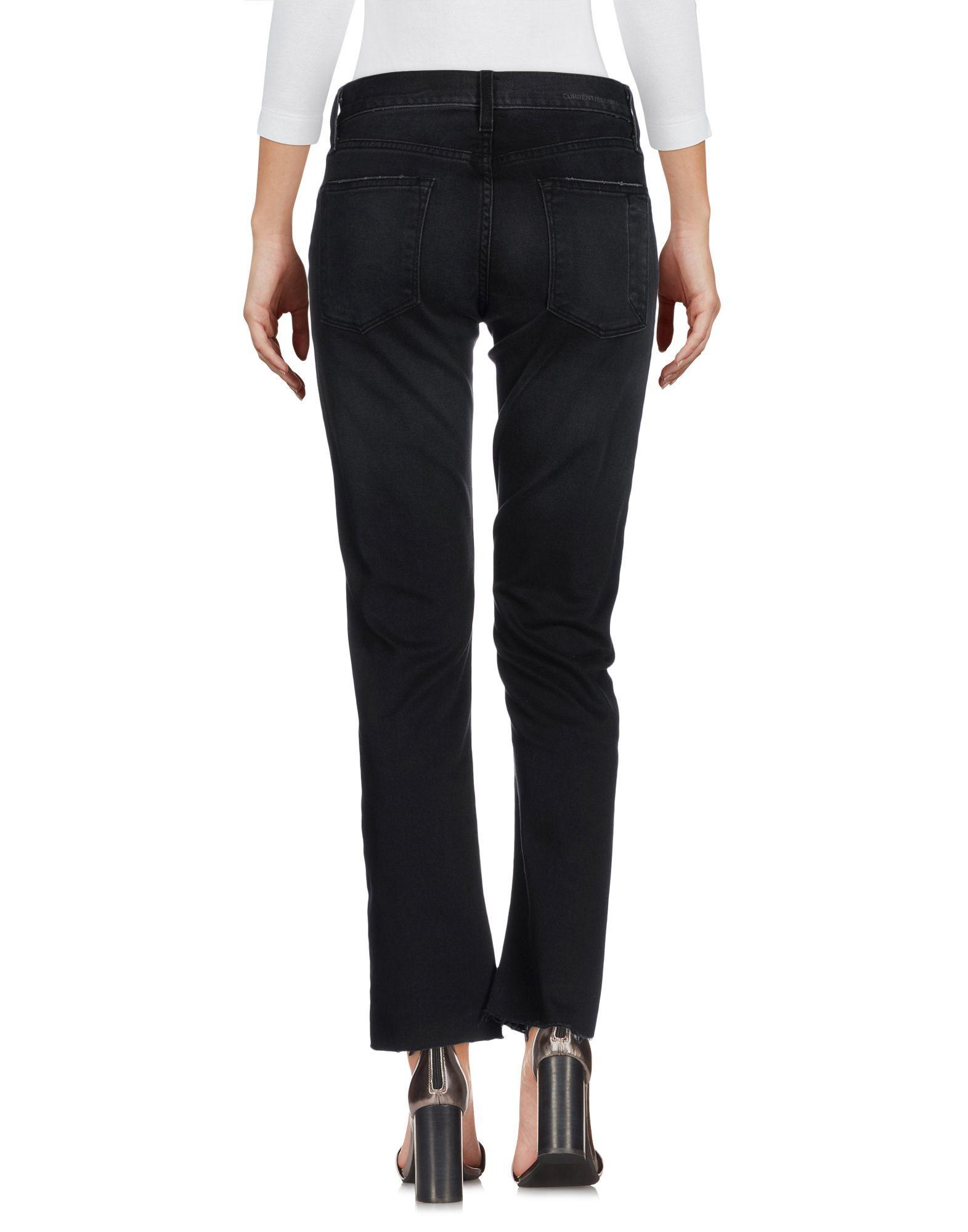 Current/Elliott Black Cotton Jeans