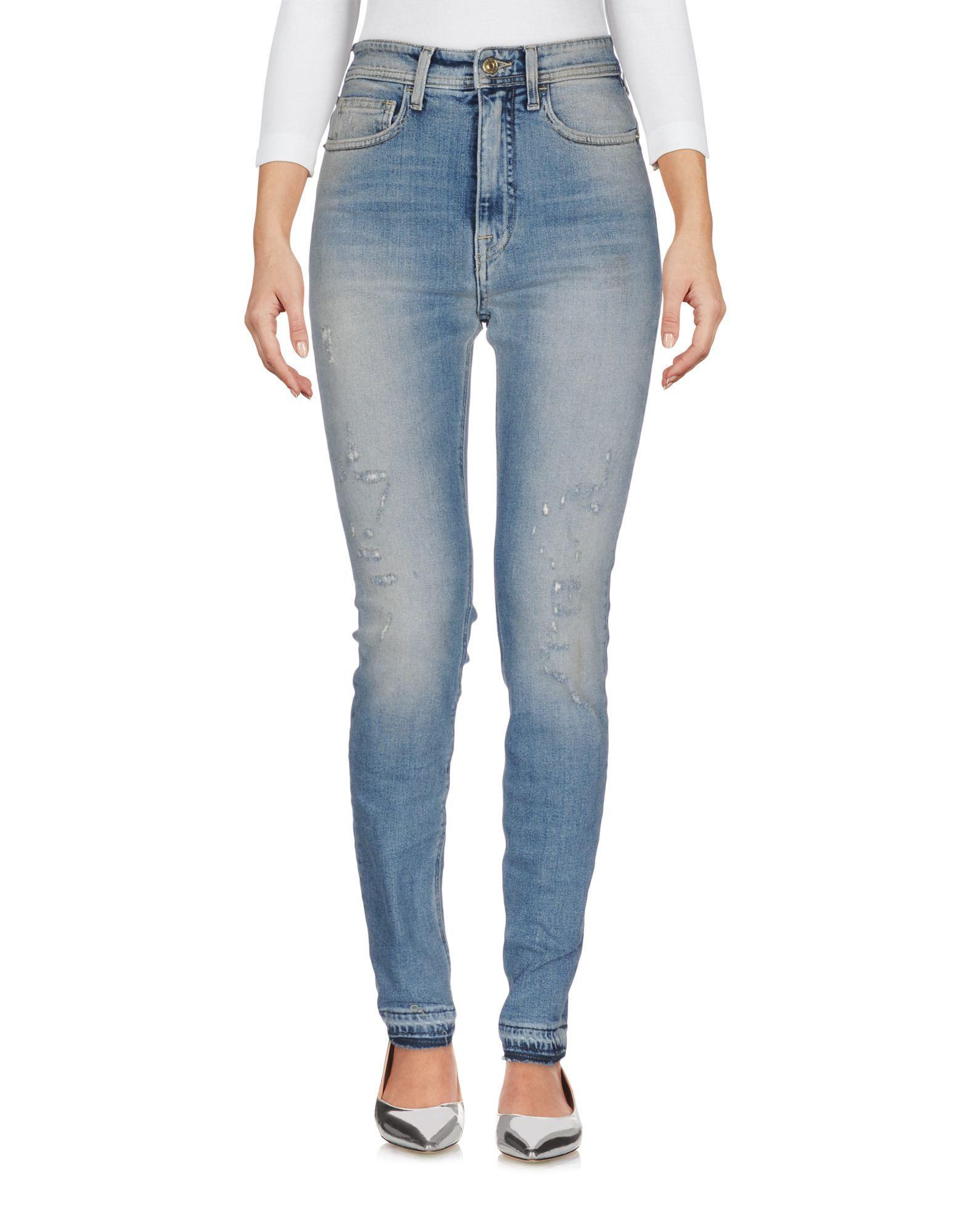 Cycle Women's Denim Trousers Blue Cotton