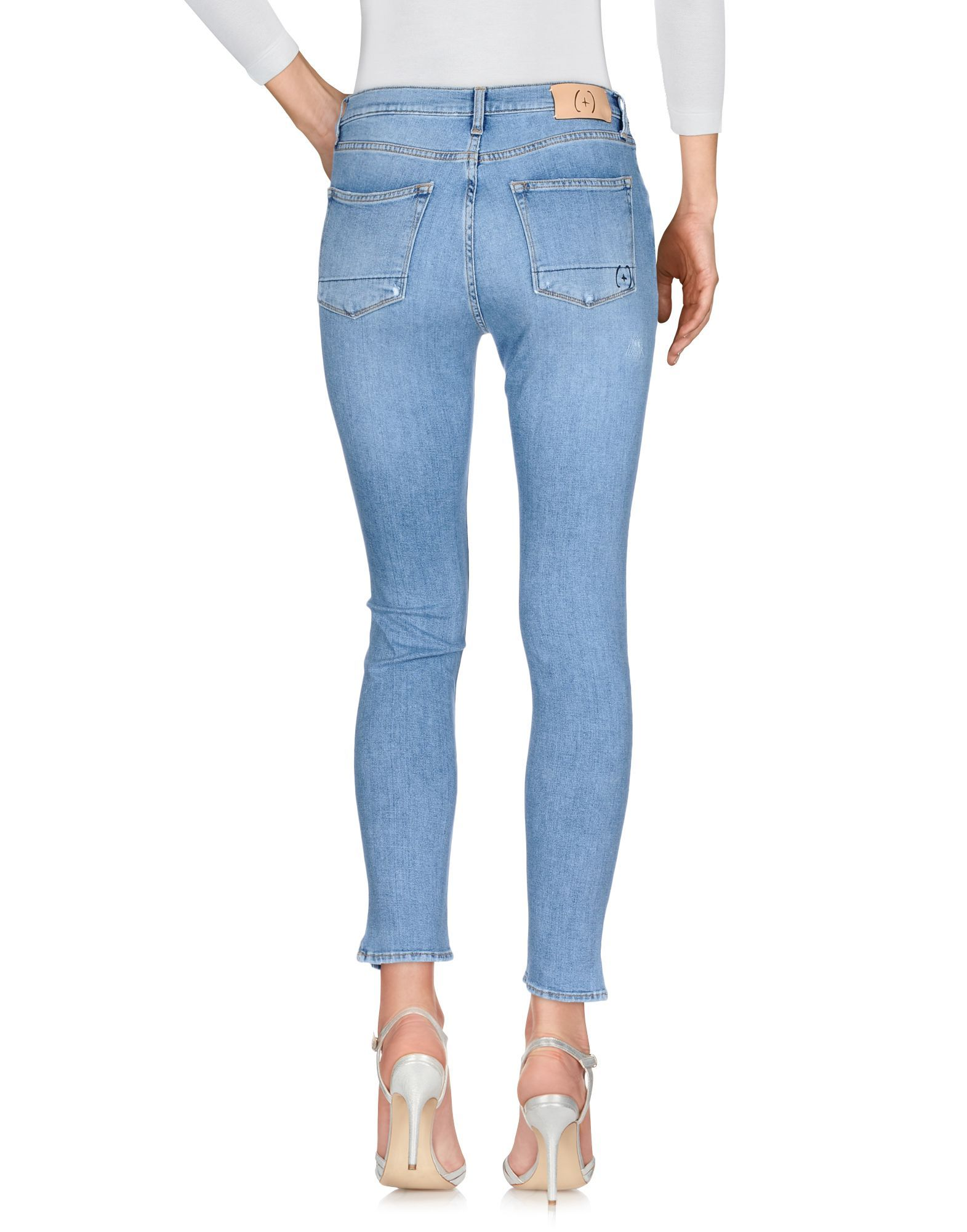 (+) People Blue Cotton Skinny Jeans