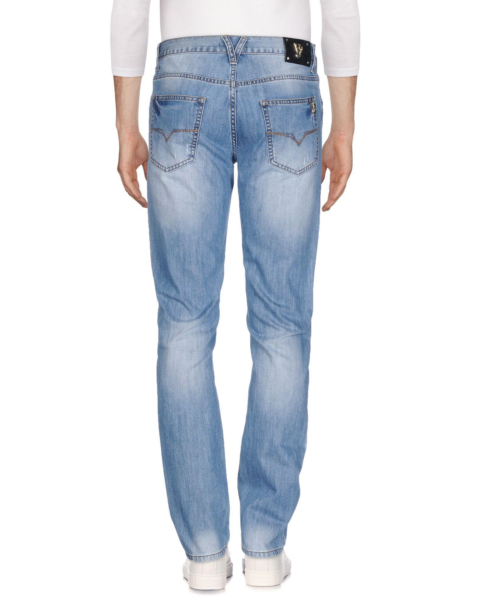 Versace Jeans Blue Cotton Jeans