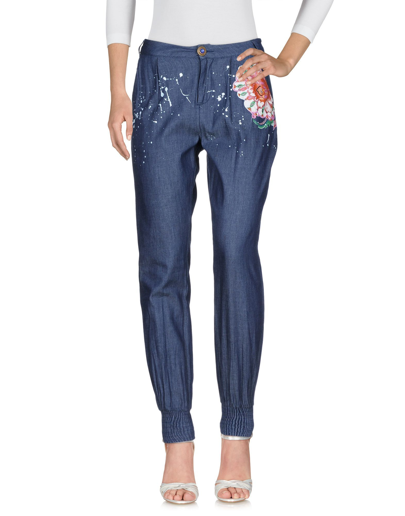 Desigual Blue Cotton Jeans