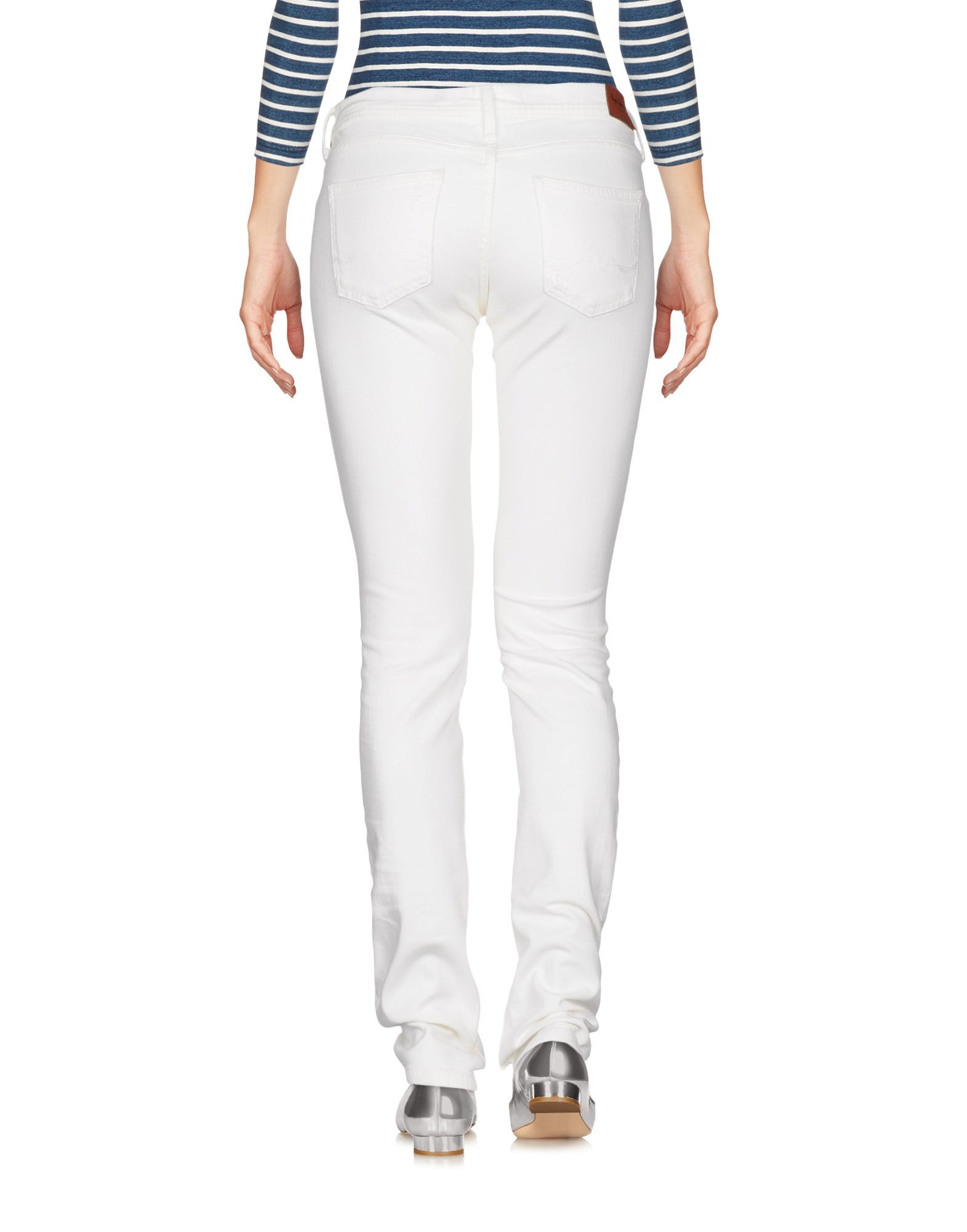 Pepe Jeans White Cotton Skinny Jeans