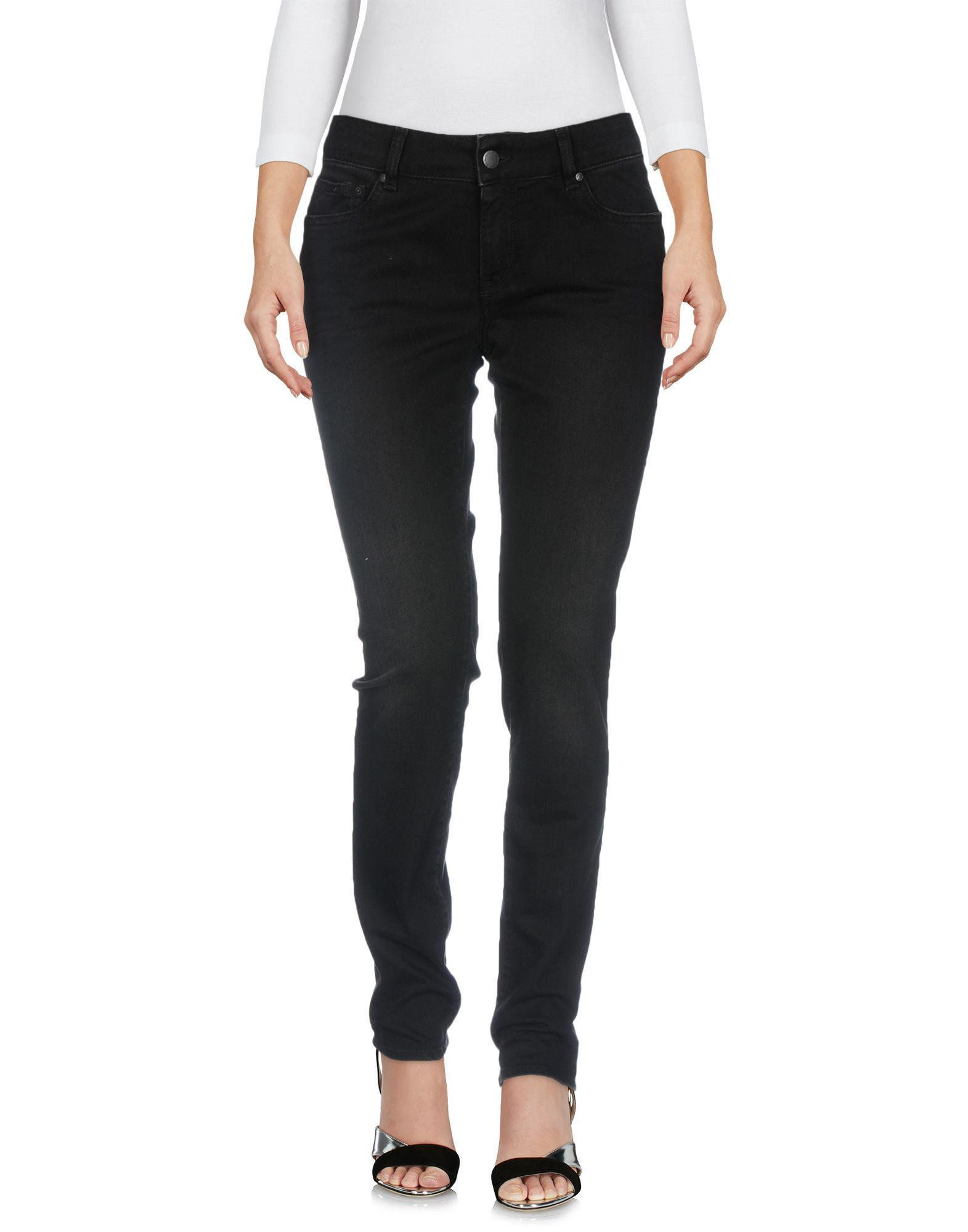Gas Black Cotton Skinny Jeans