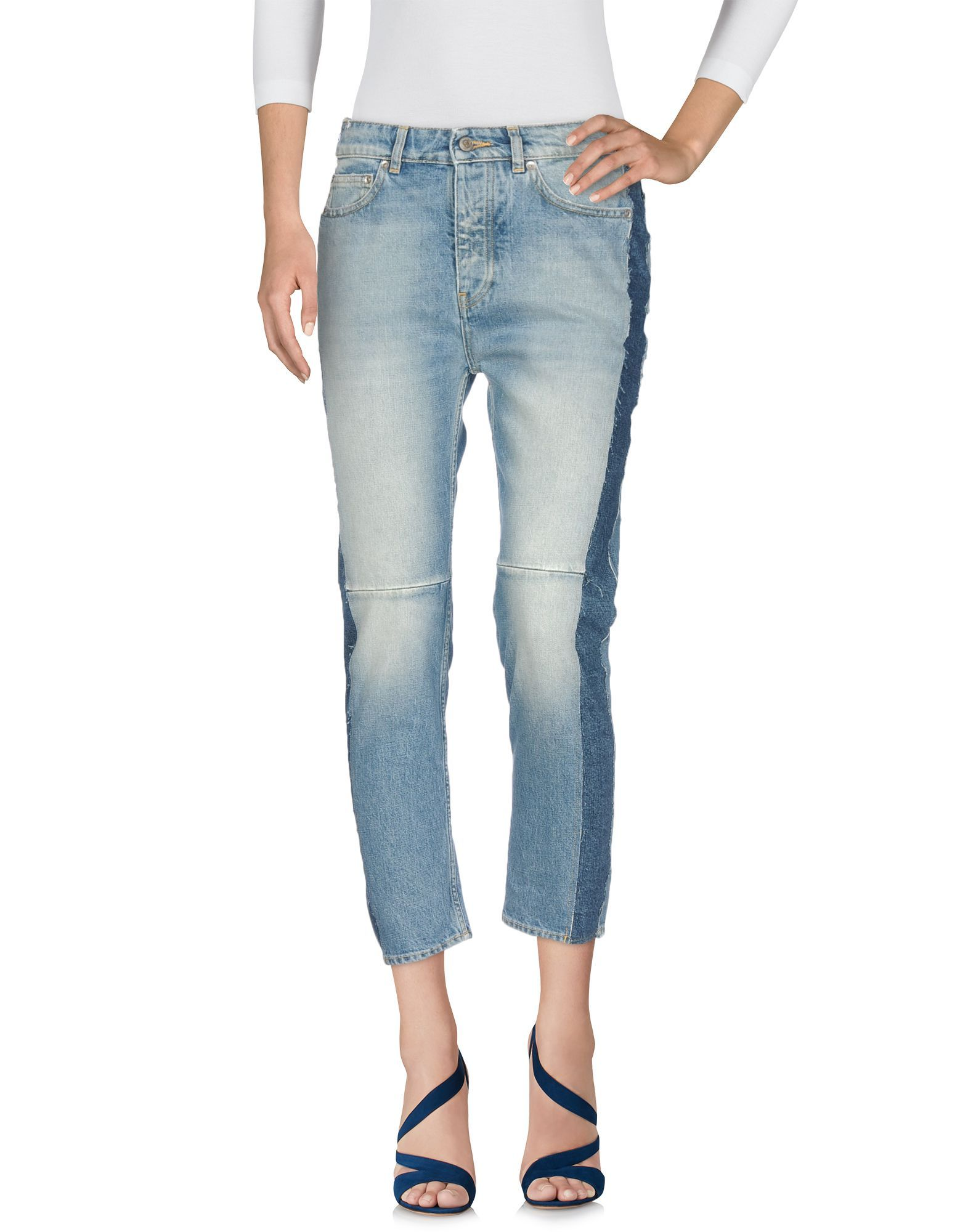 Golden Goose Deluxe Brand Blue Cotton Cropped Jeans