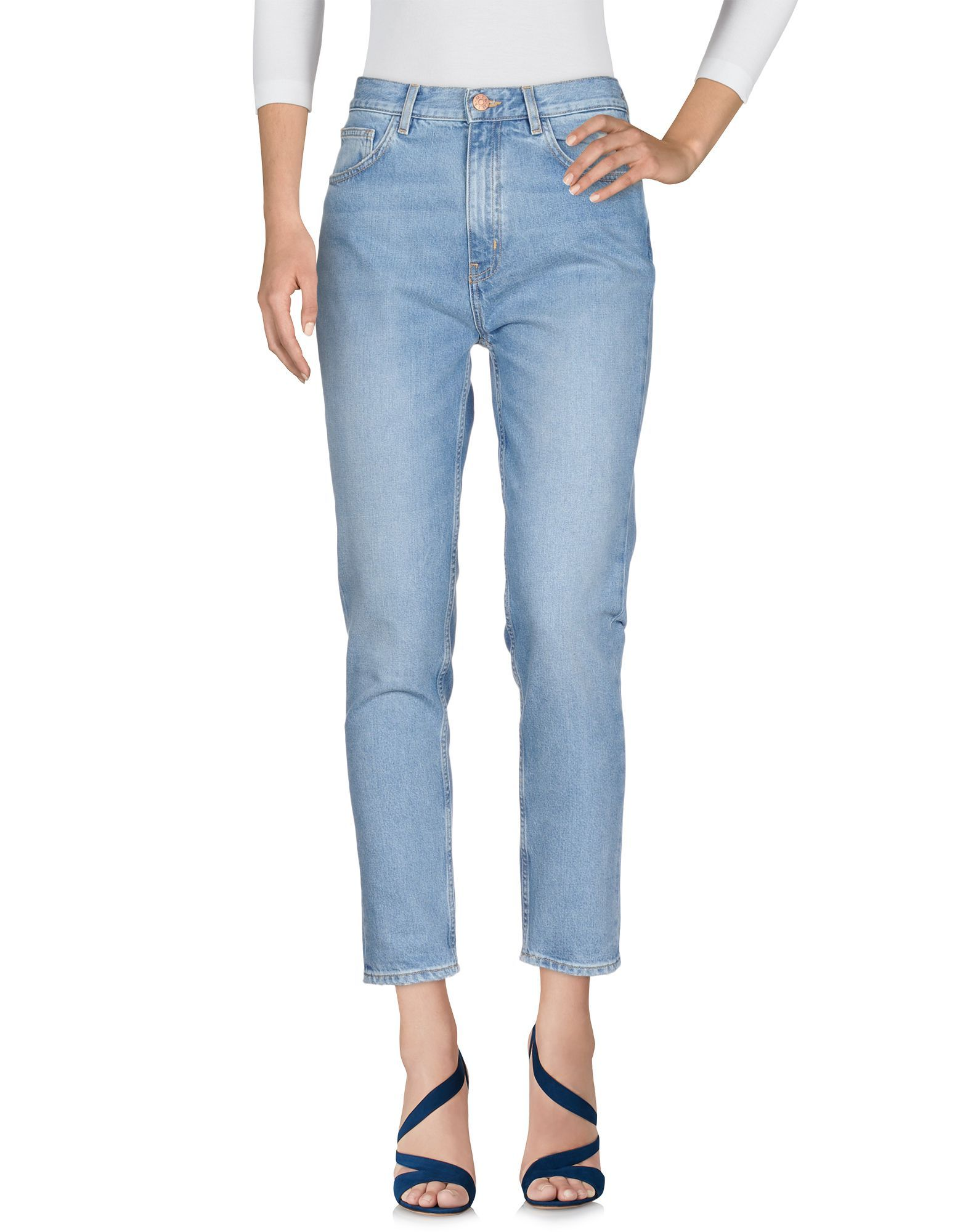 M.I.H Jeans Blue Cotton Cropped Jeans