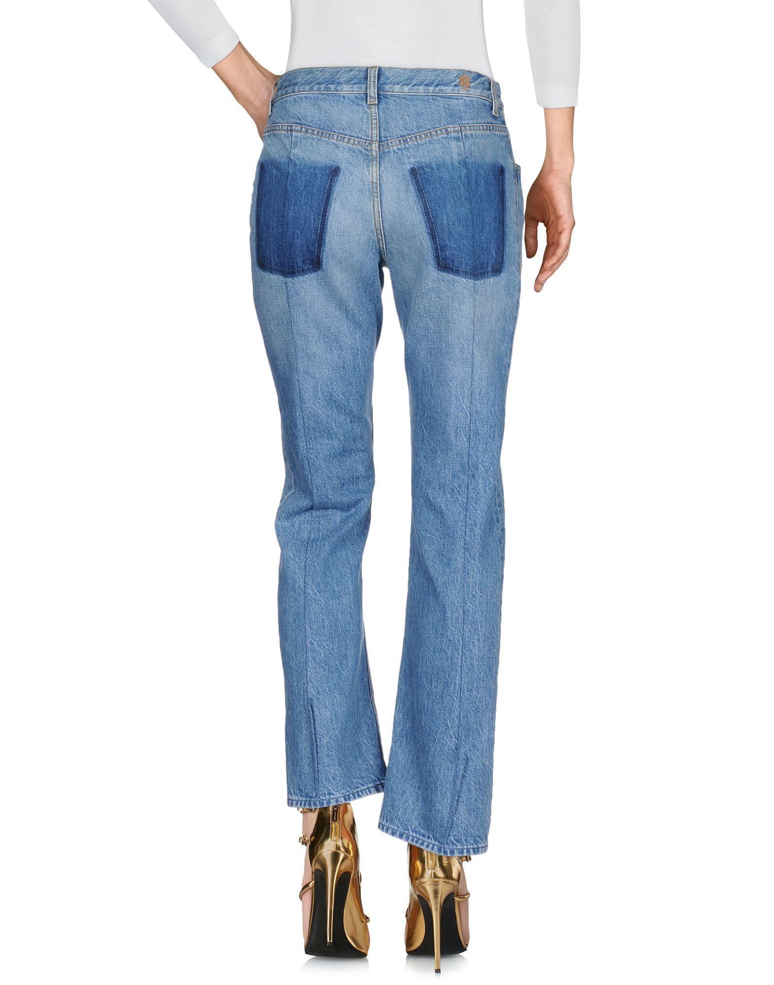 Alexander McQueen Blue Cotton Jeans