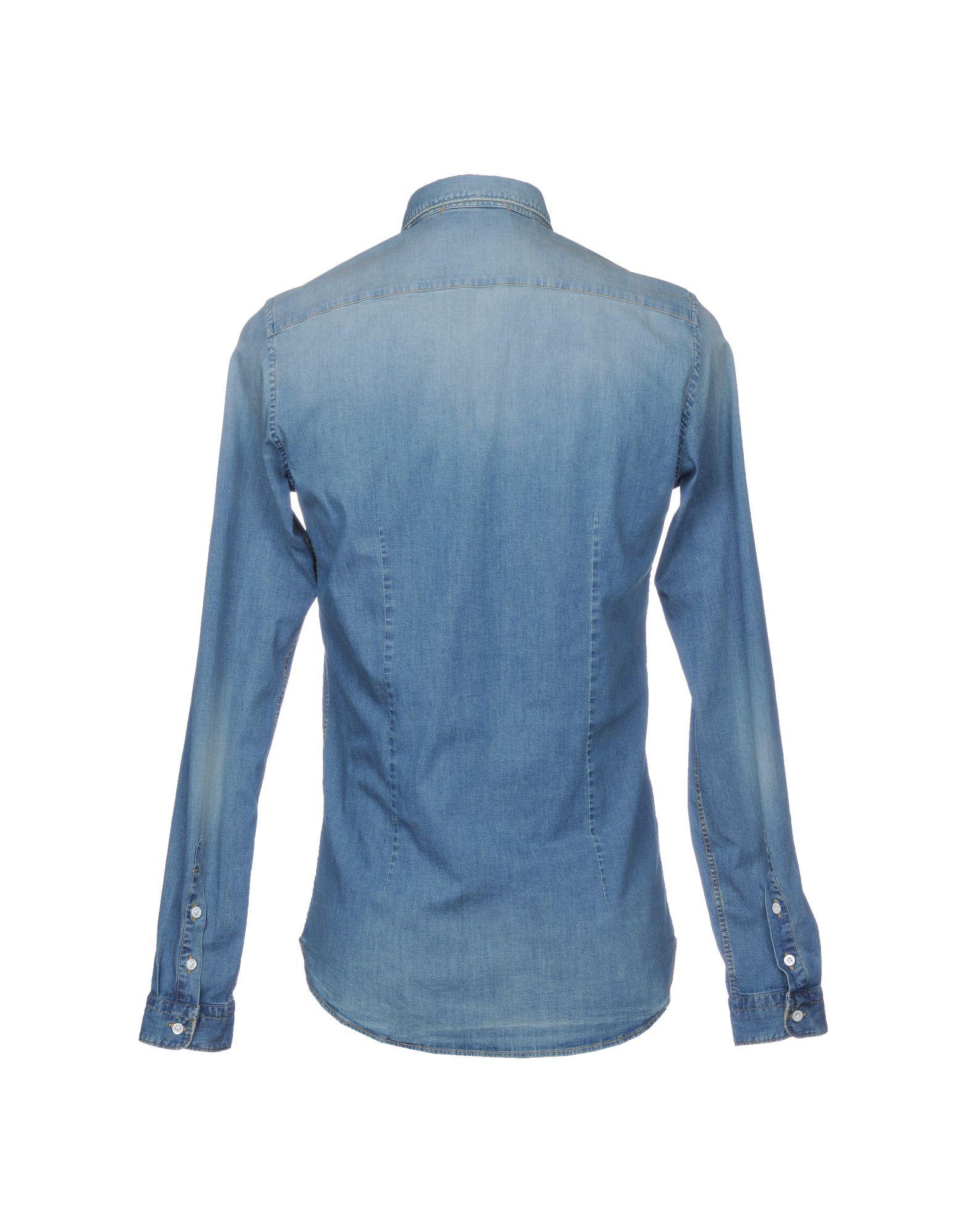 Aglini Blue Denim Shirt