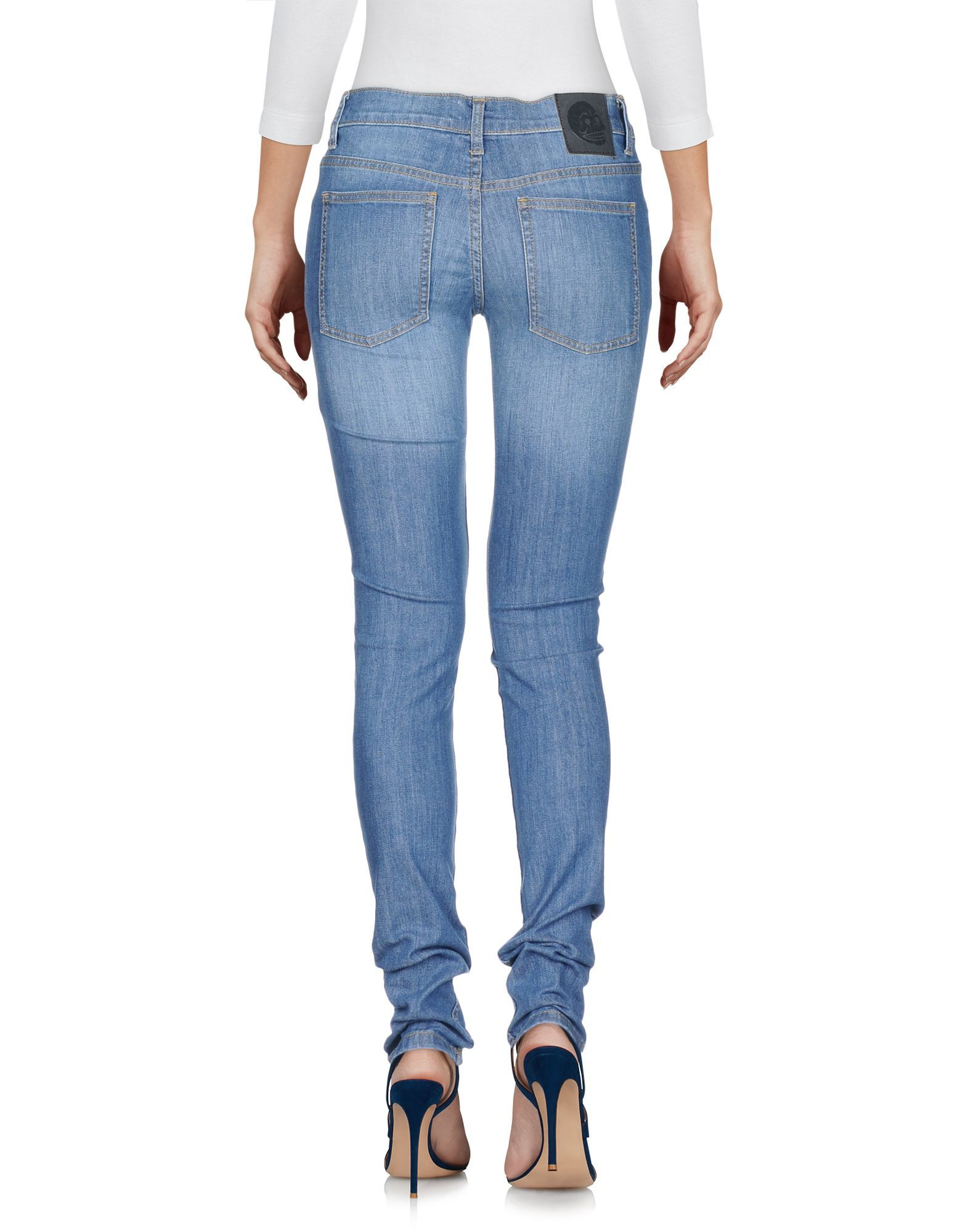 Cheap Monday Blue Cotton Skinny Jeans