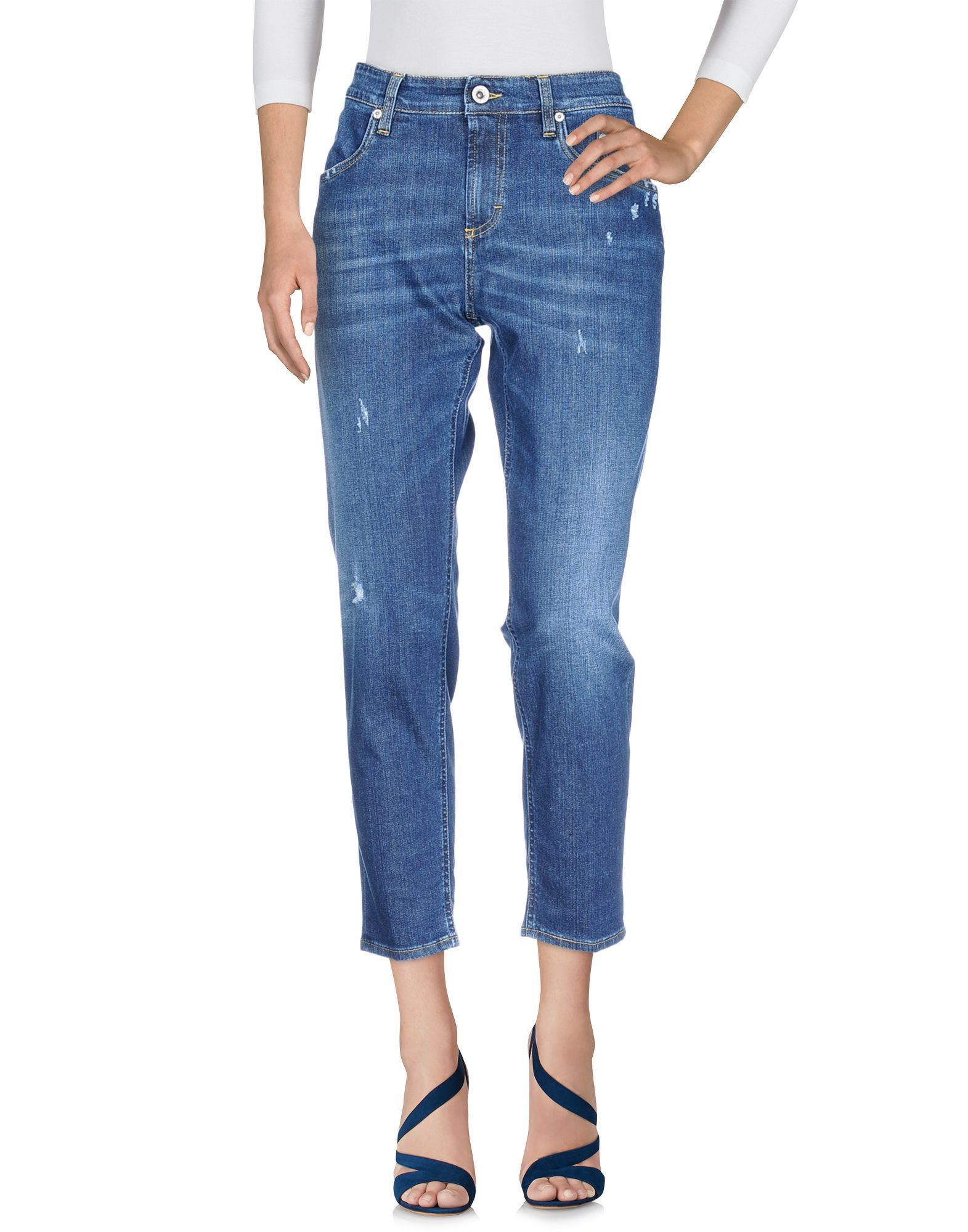 Siviglia Blue Cotton Cropped Jeans