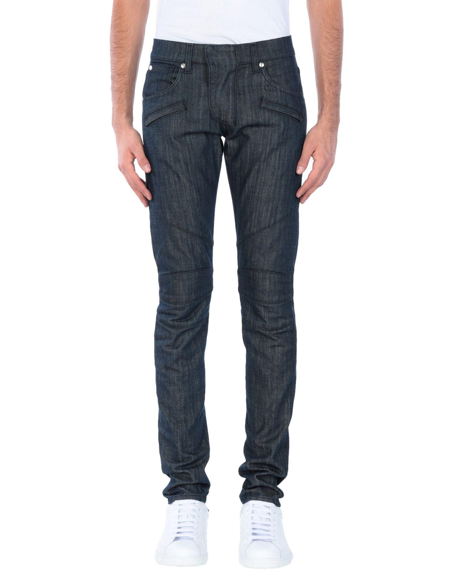 Pierre Balmain Blue Cotton Jeans