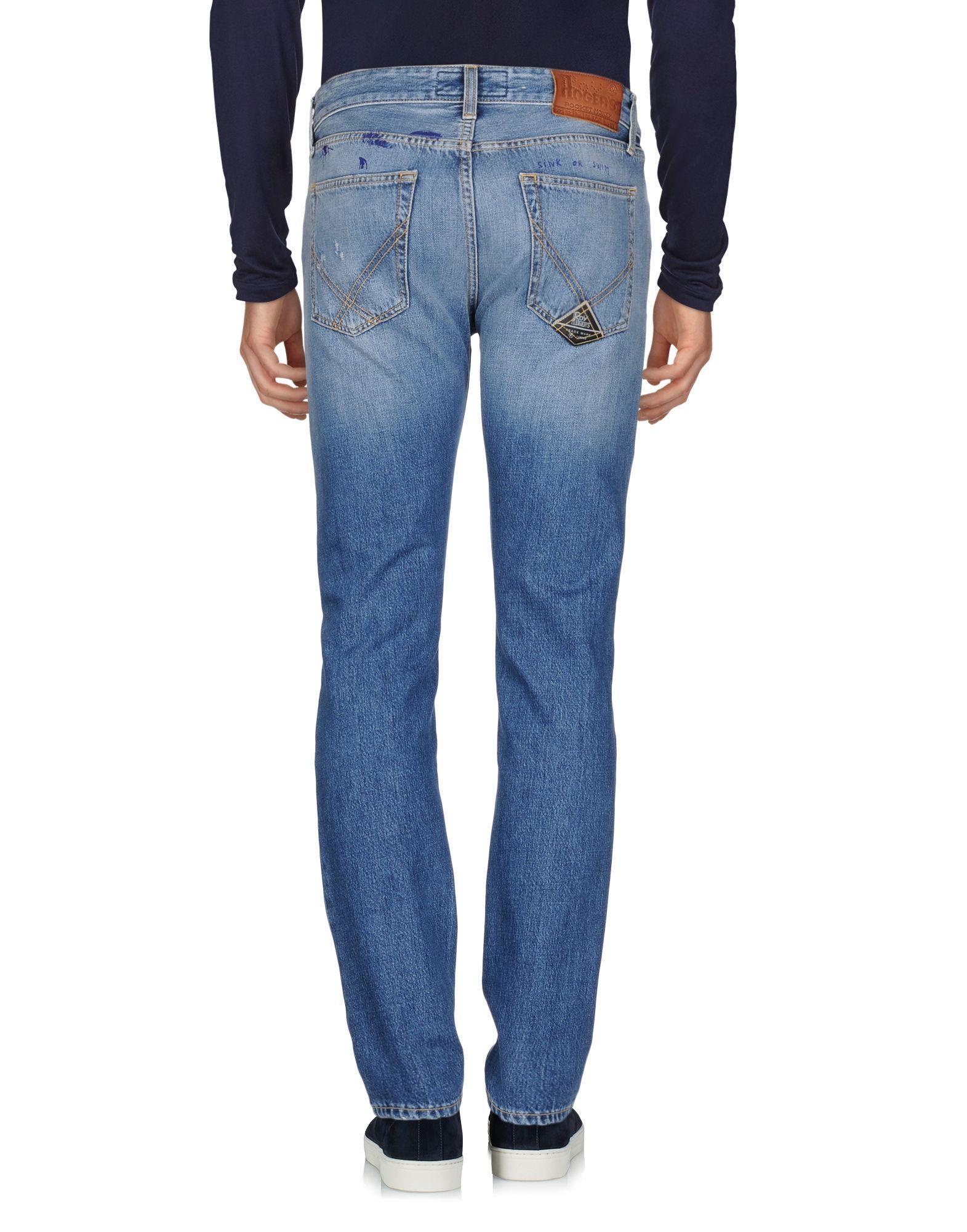 Roÿ Roger'S Blue Cotton Straight Leg Jeans