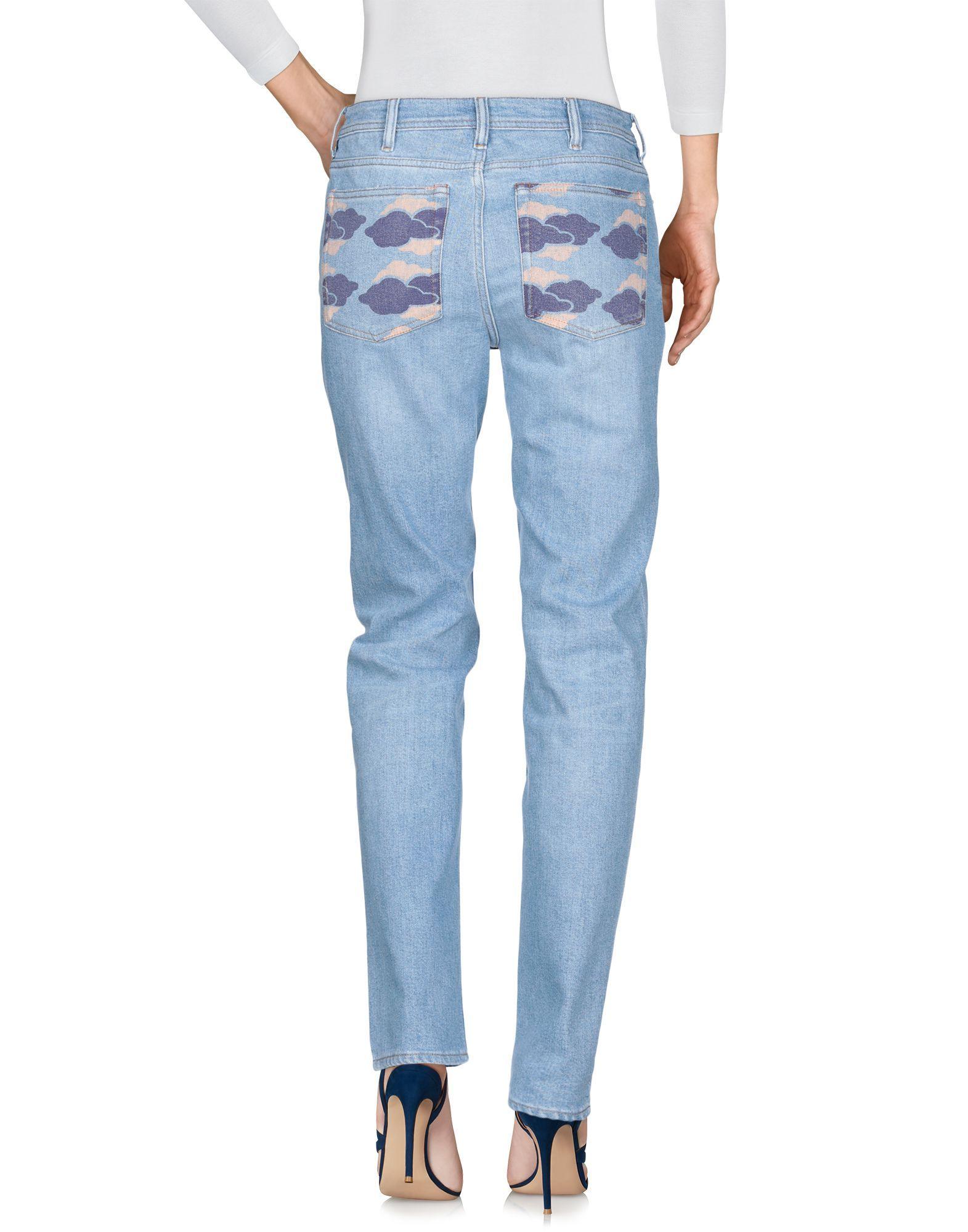 Acne Studios Bla Konst Blue Cotton Jeans