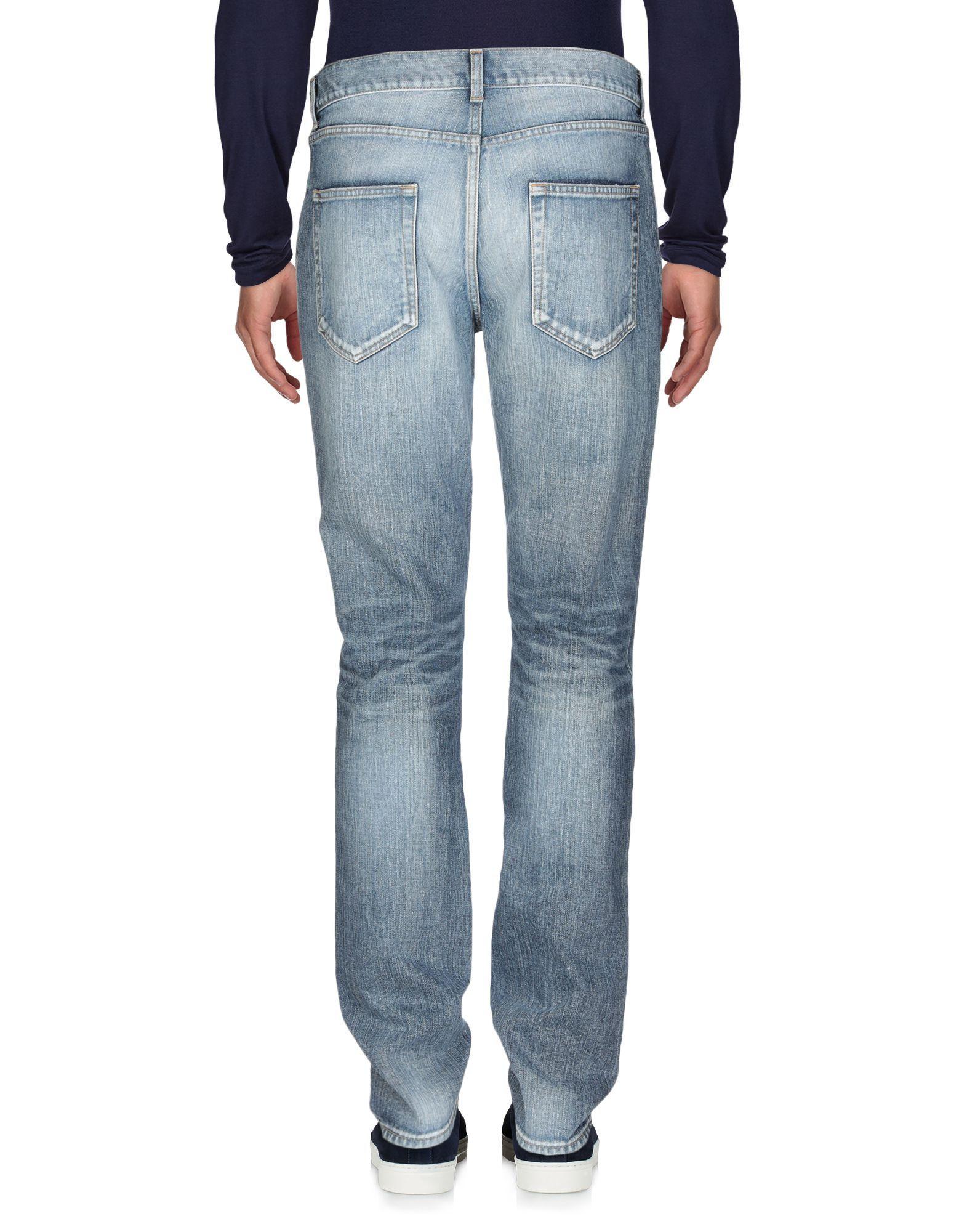 Saint Laurent Blue Cotton Jeans