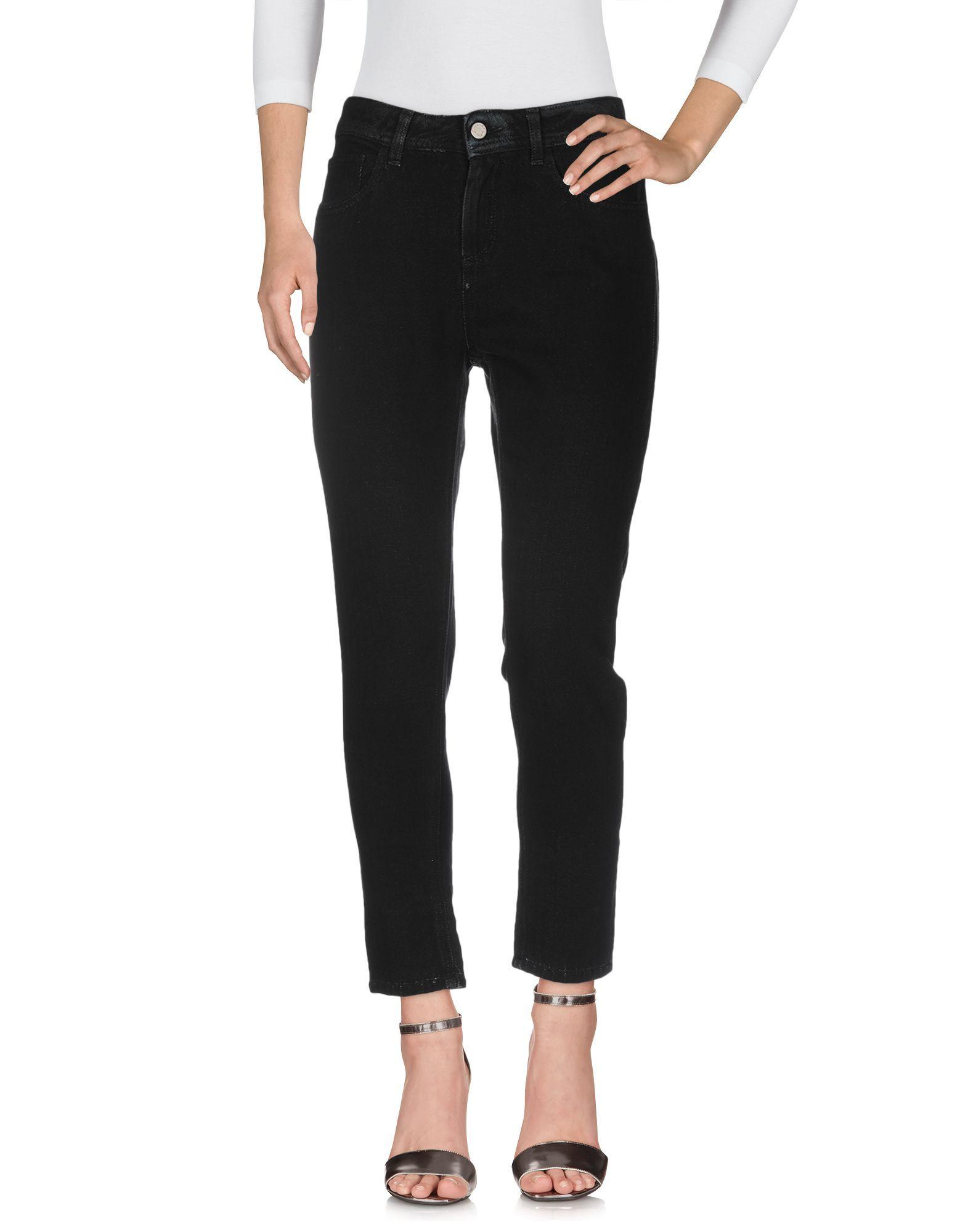 Manila Grace Black Cotton Jeans