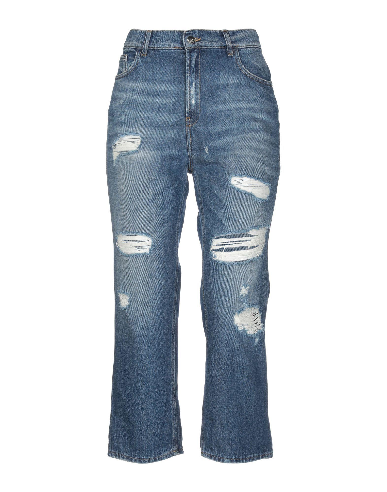 Kaos Jeans Blue Cotton Distressed Jeans