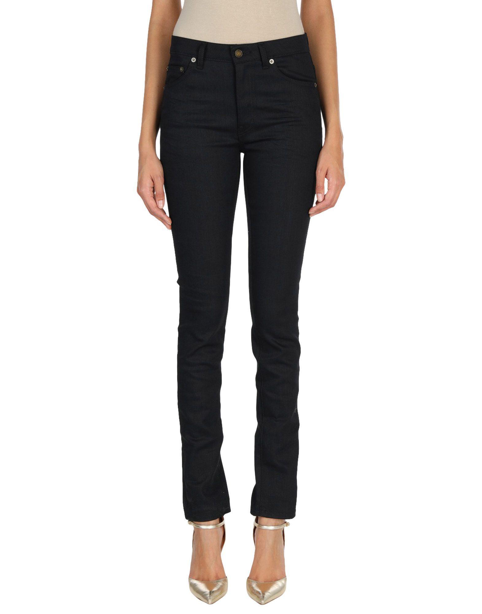 Saint Laurent Black Cotton Pantaloni jeans