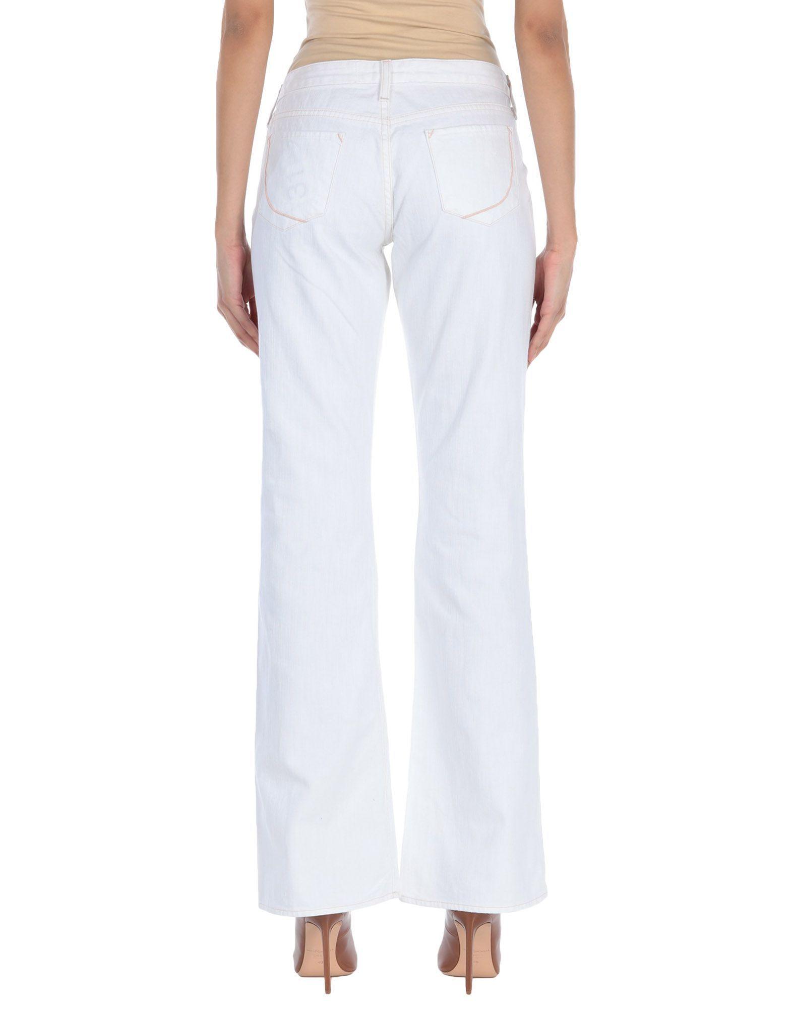 Paperdenim&Cloth White Cotton Wide Leg Jeans