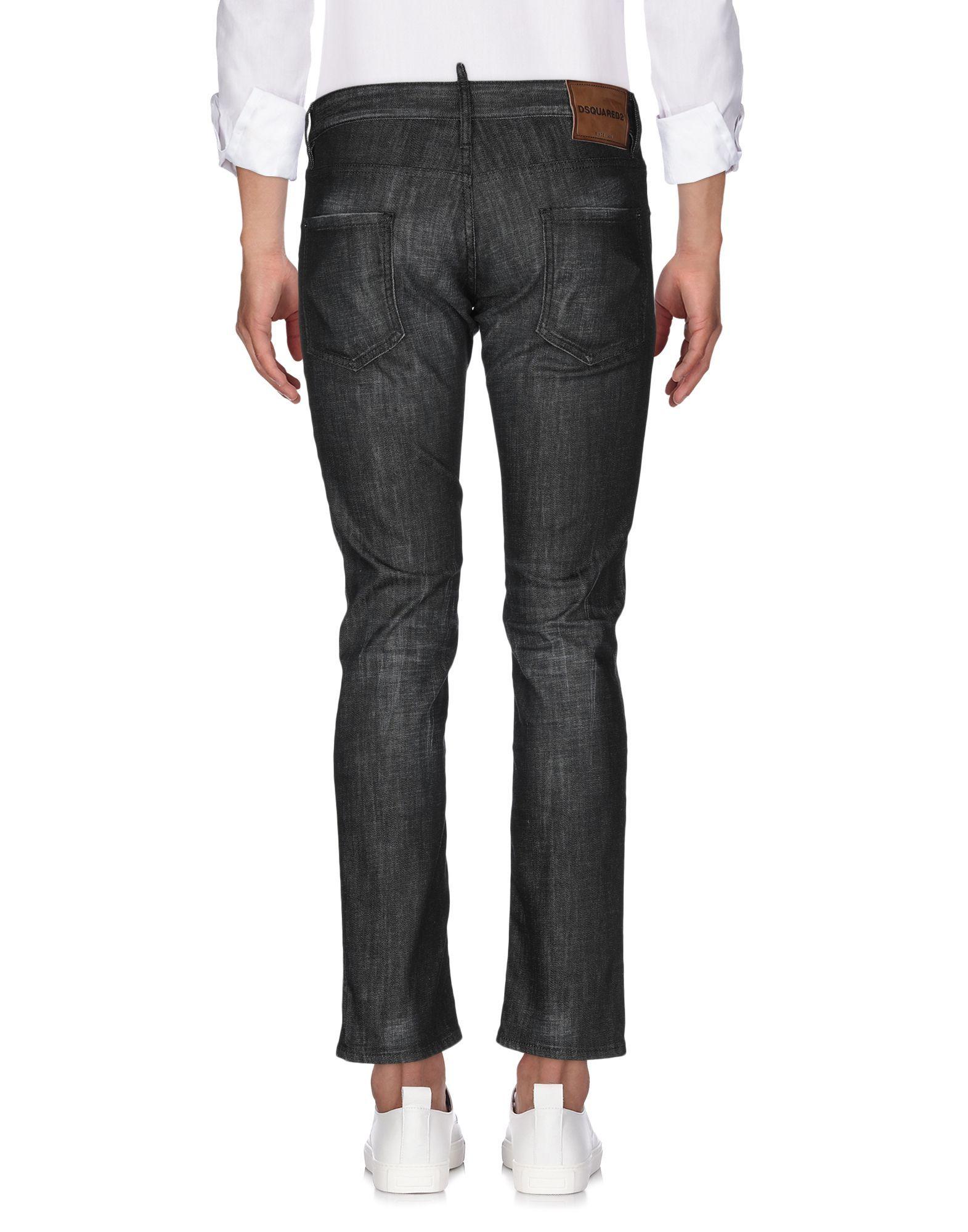 Dsquared2 Black Cotton Jeans