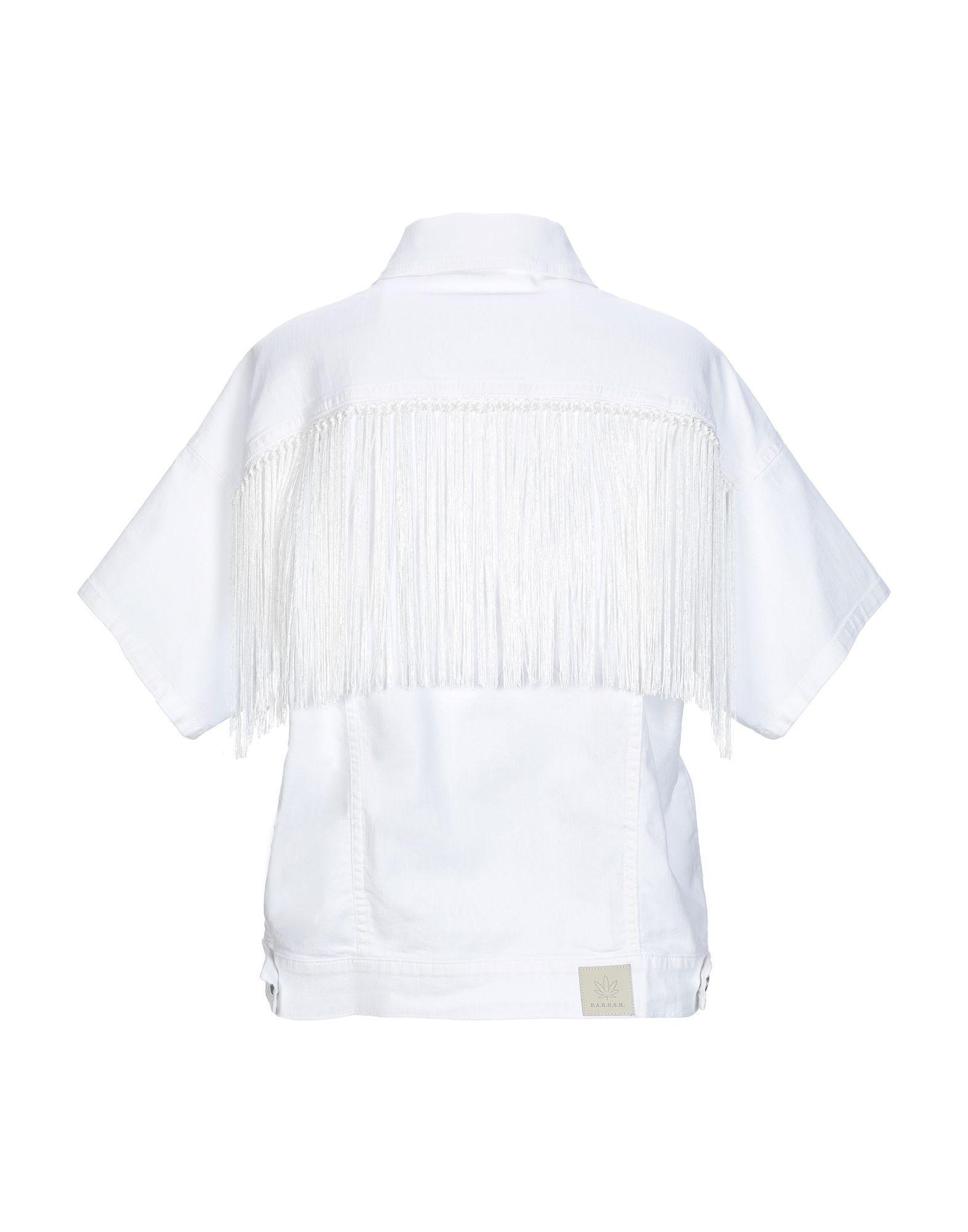 P.A.R.O.S.H. White Short Sleeve Denim Jacket