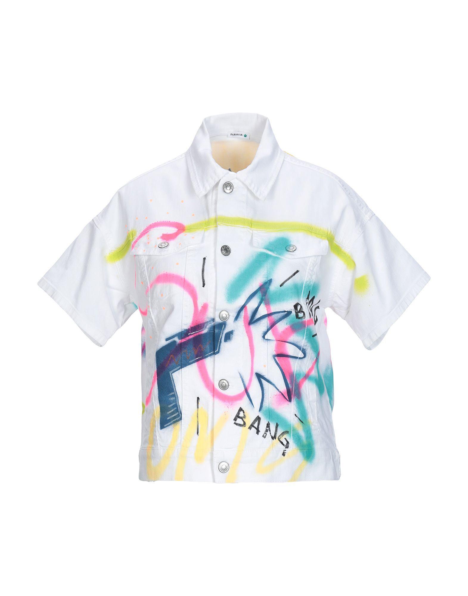 P.A.R.O.S.H. White Cotton Short Sleeve Shirt
