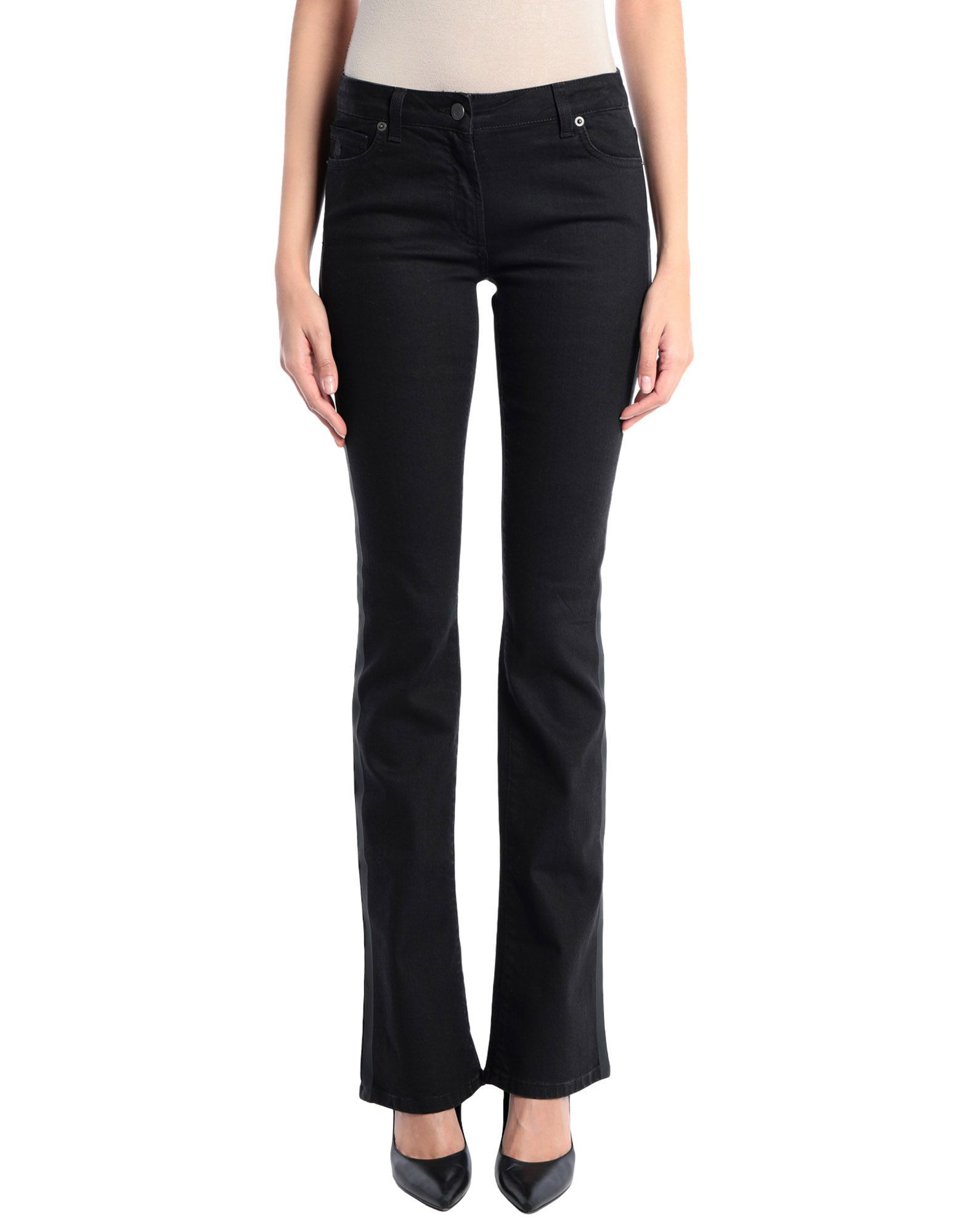 Karl Lagerfeld Black Cotton Low Waisted Jeans